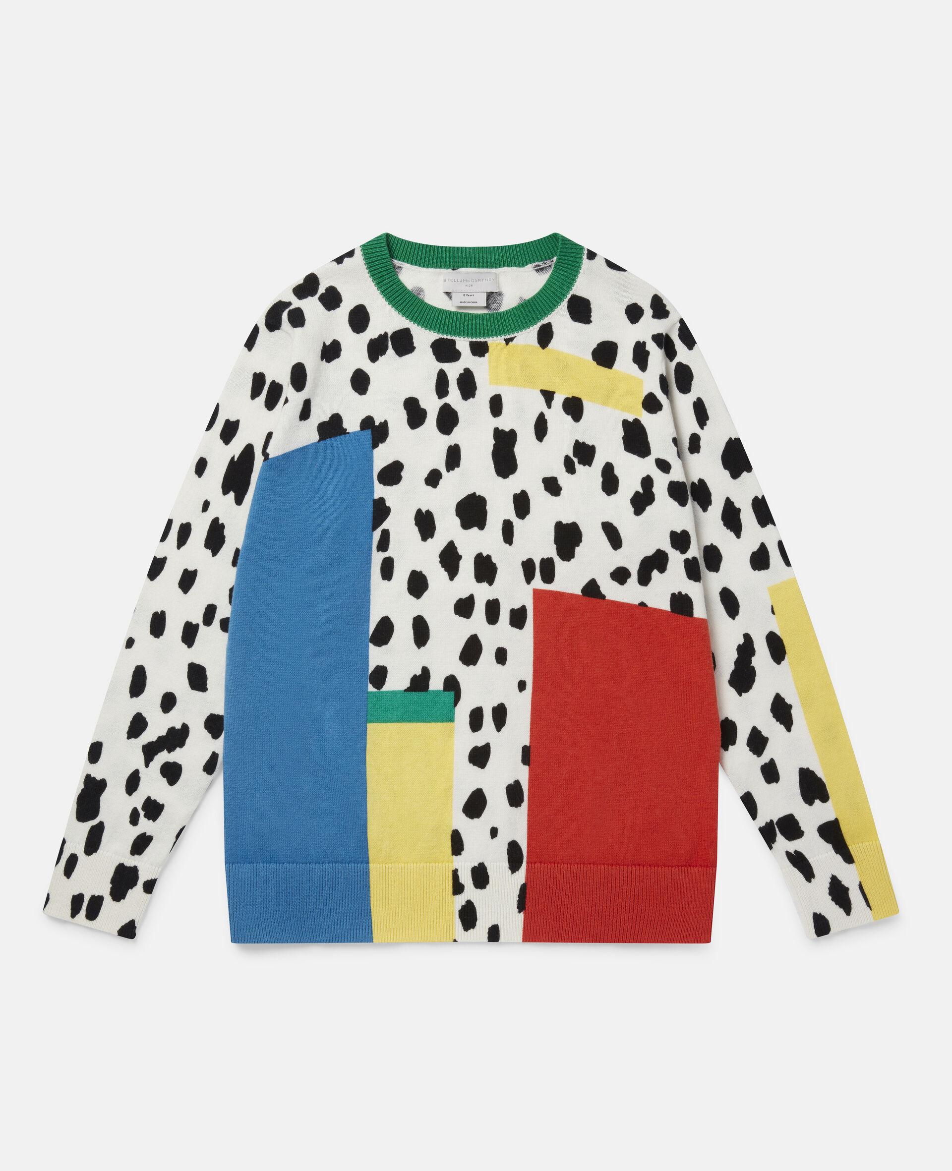 Pull en maille motif taches dalmatien-Fantaisie-large image number 0