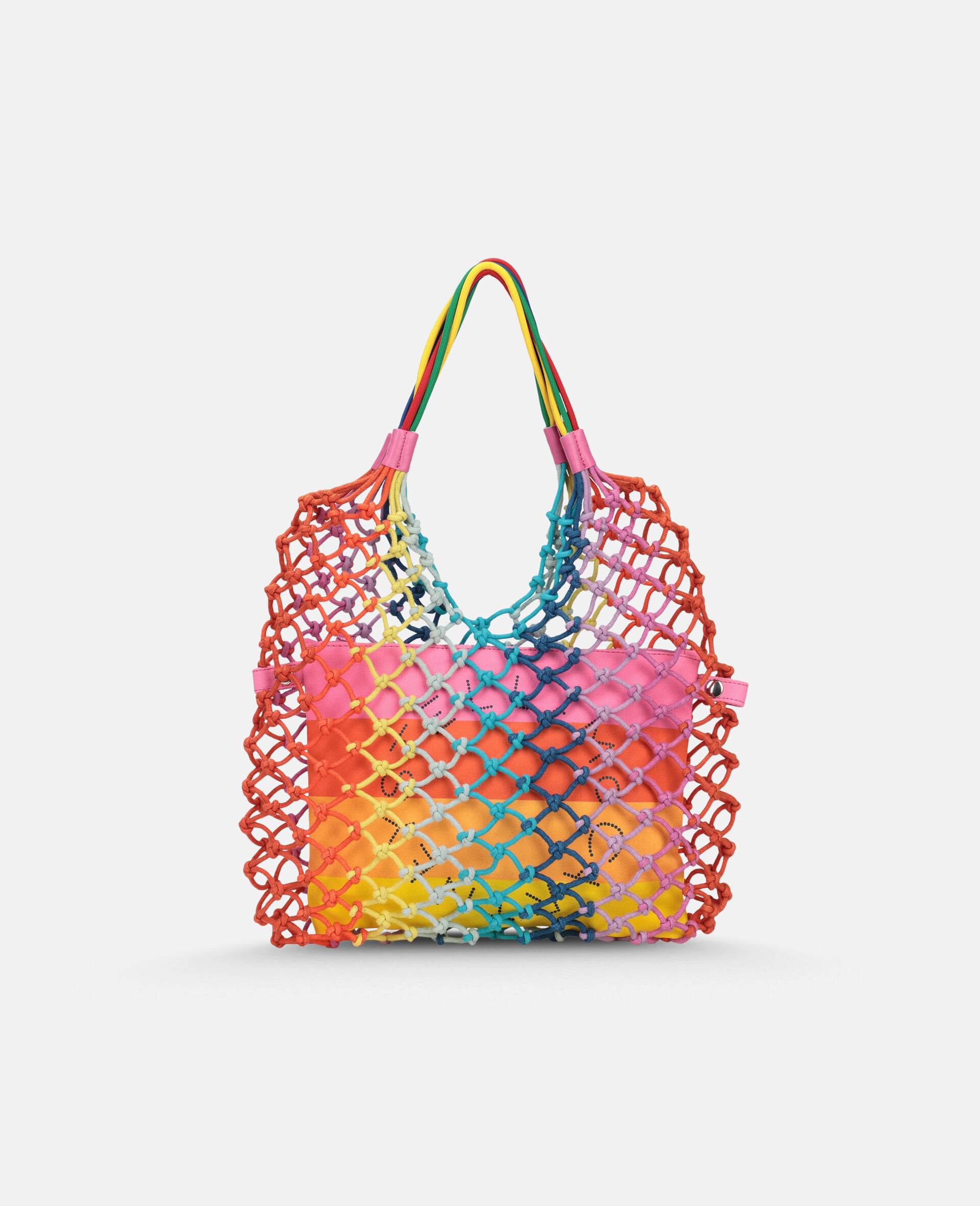 Multicolour Knotted Handbag -Multicolour-large image number 0