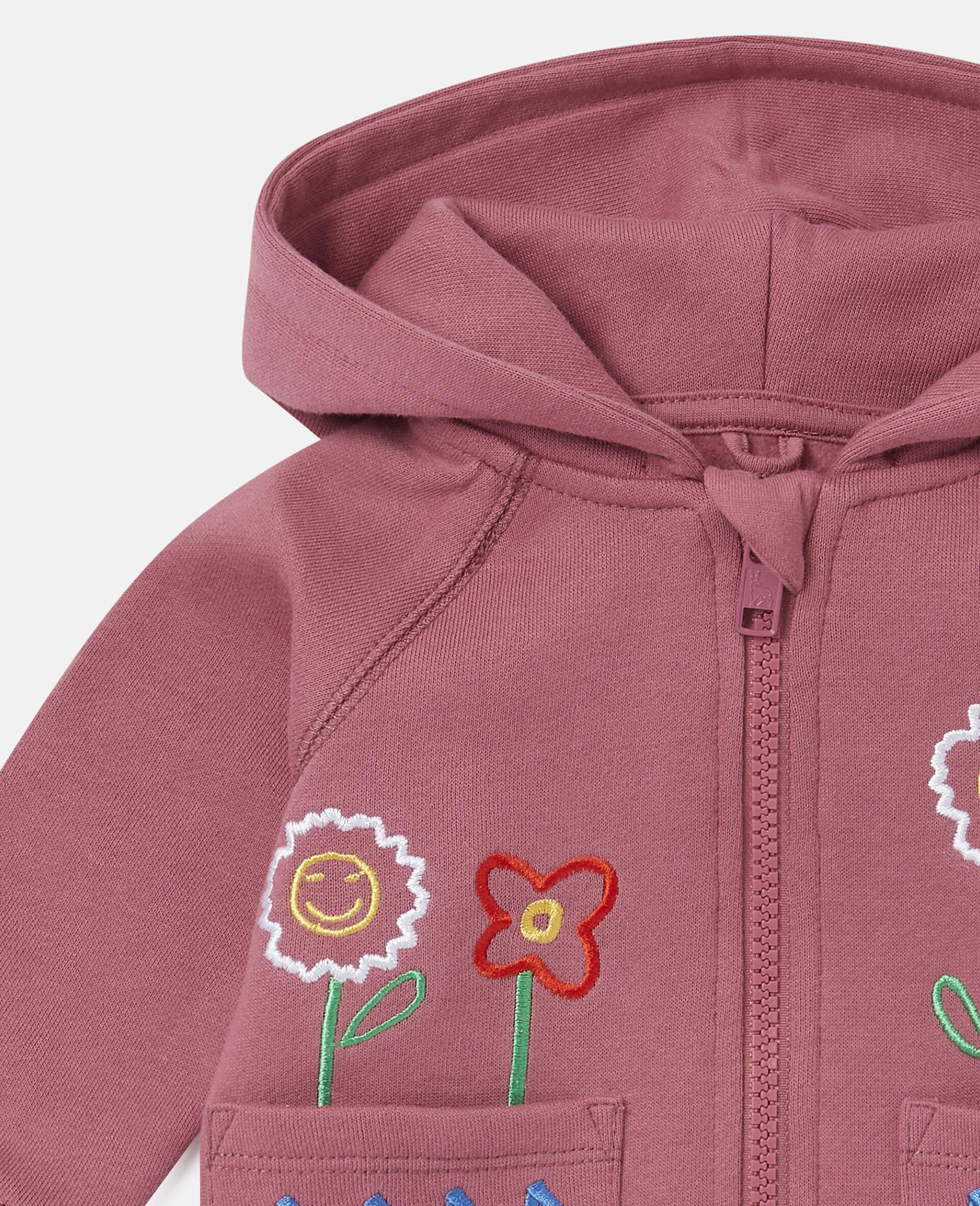 Garden Fleece Hoodie-Red-large image number 2