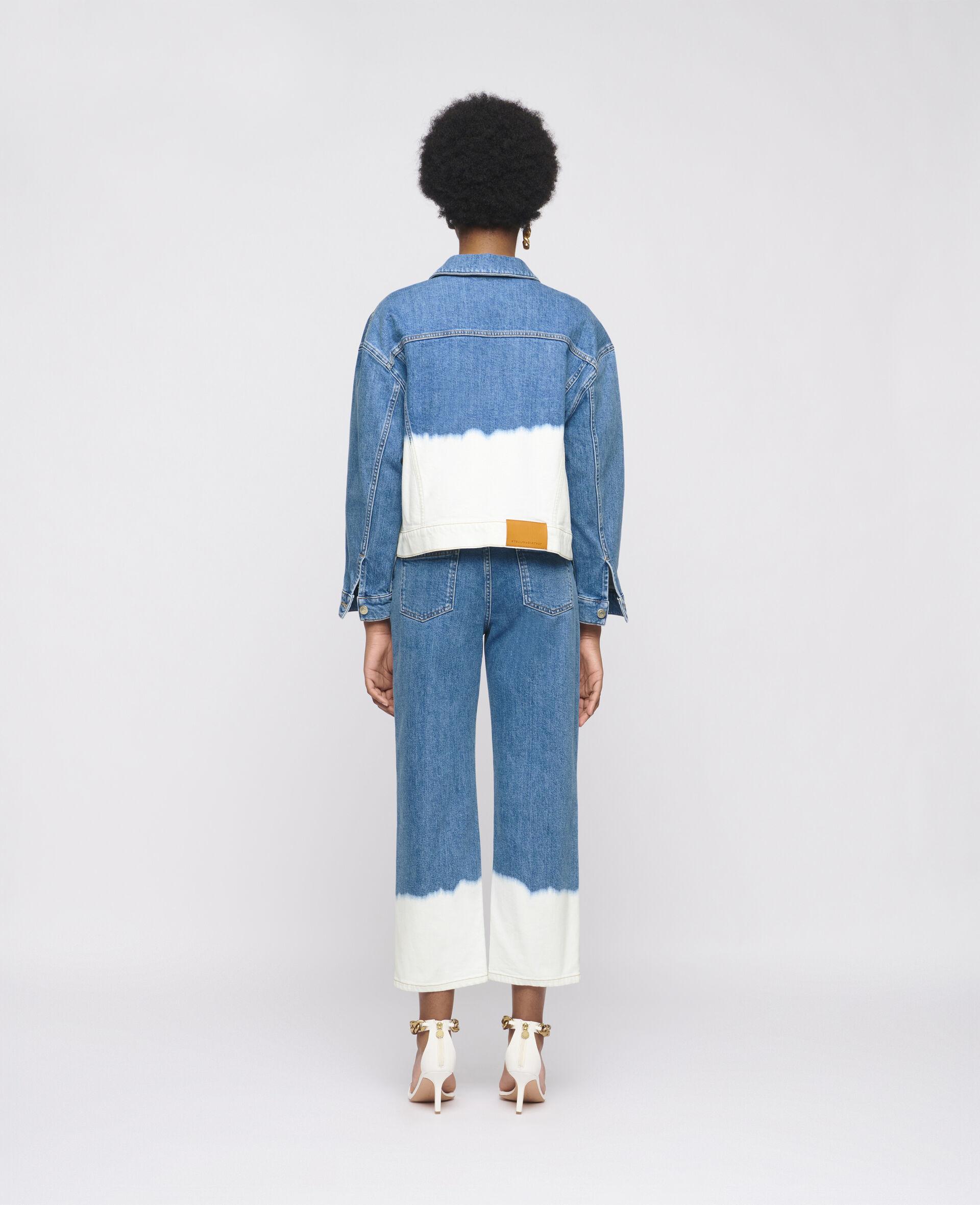 Dip Faded Denim Jacket -Blue-large image number 2