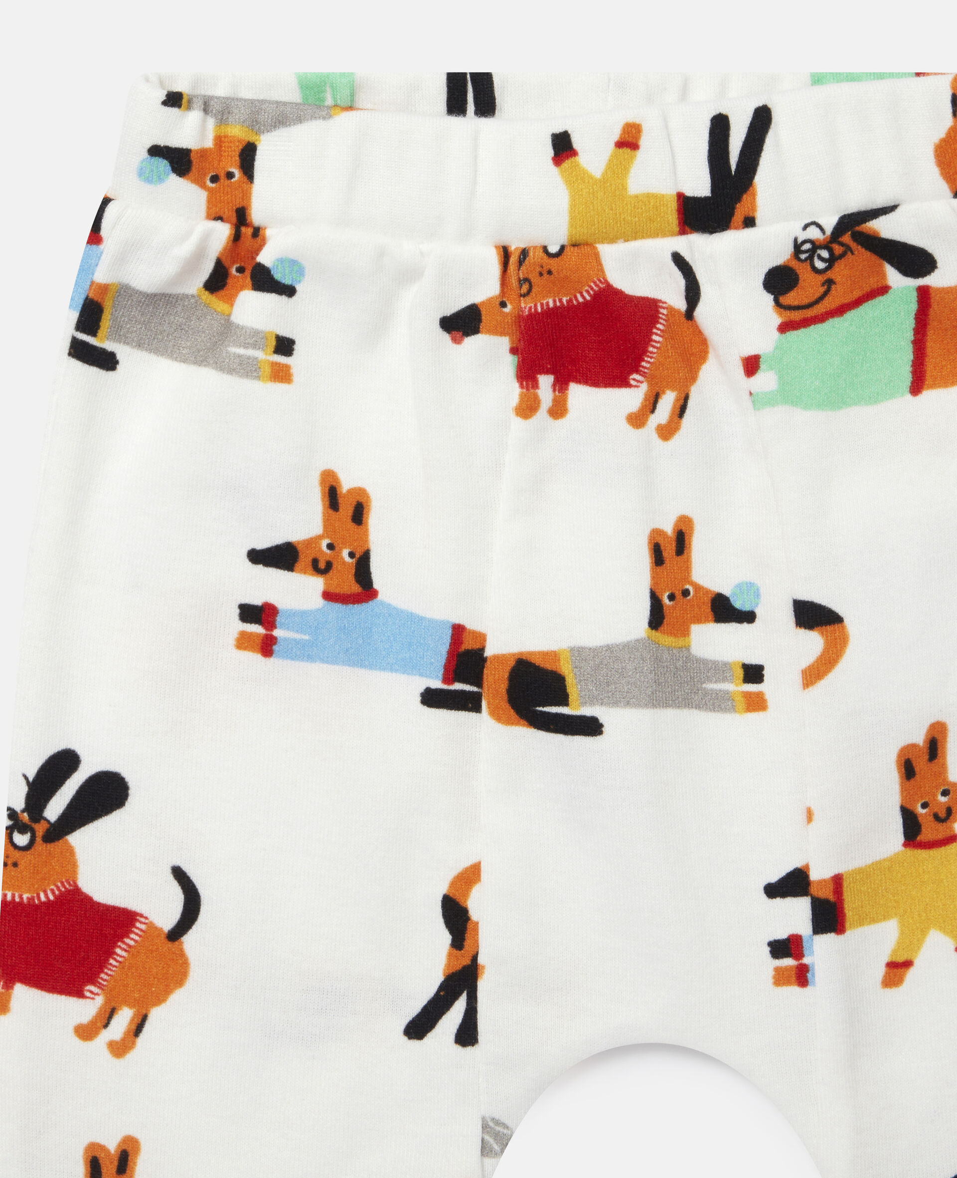 Baby Doggies Jersey Rib Tracksuit-White-large image number 2