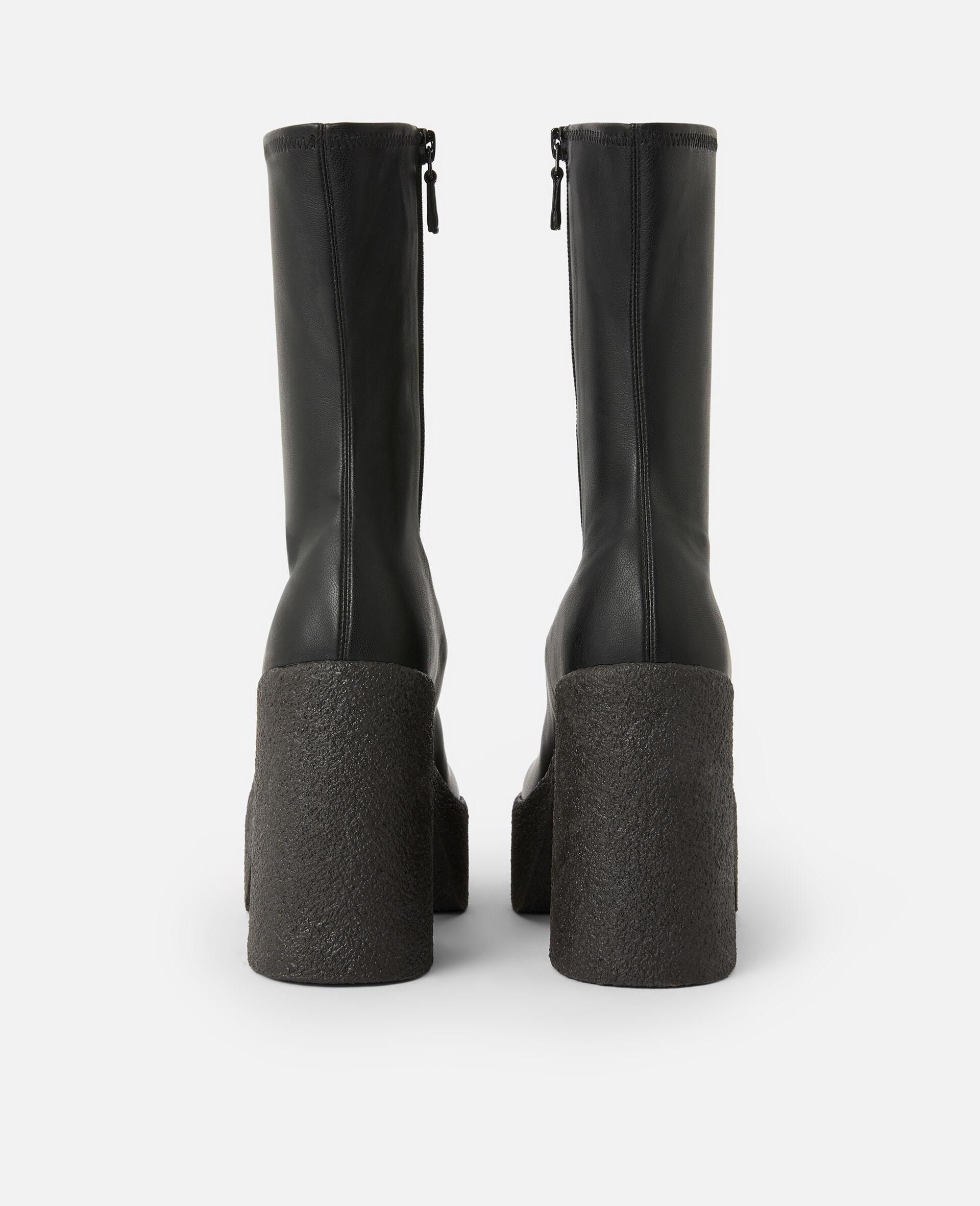 粗跟踝靴 -黑色-large image number 2