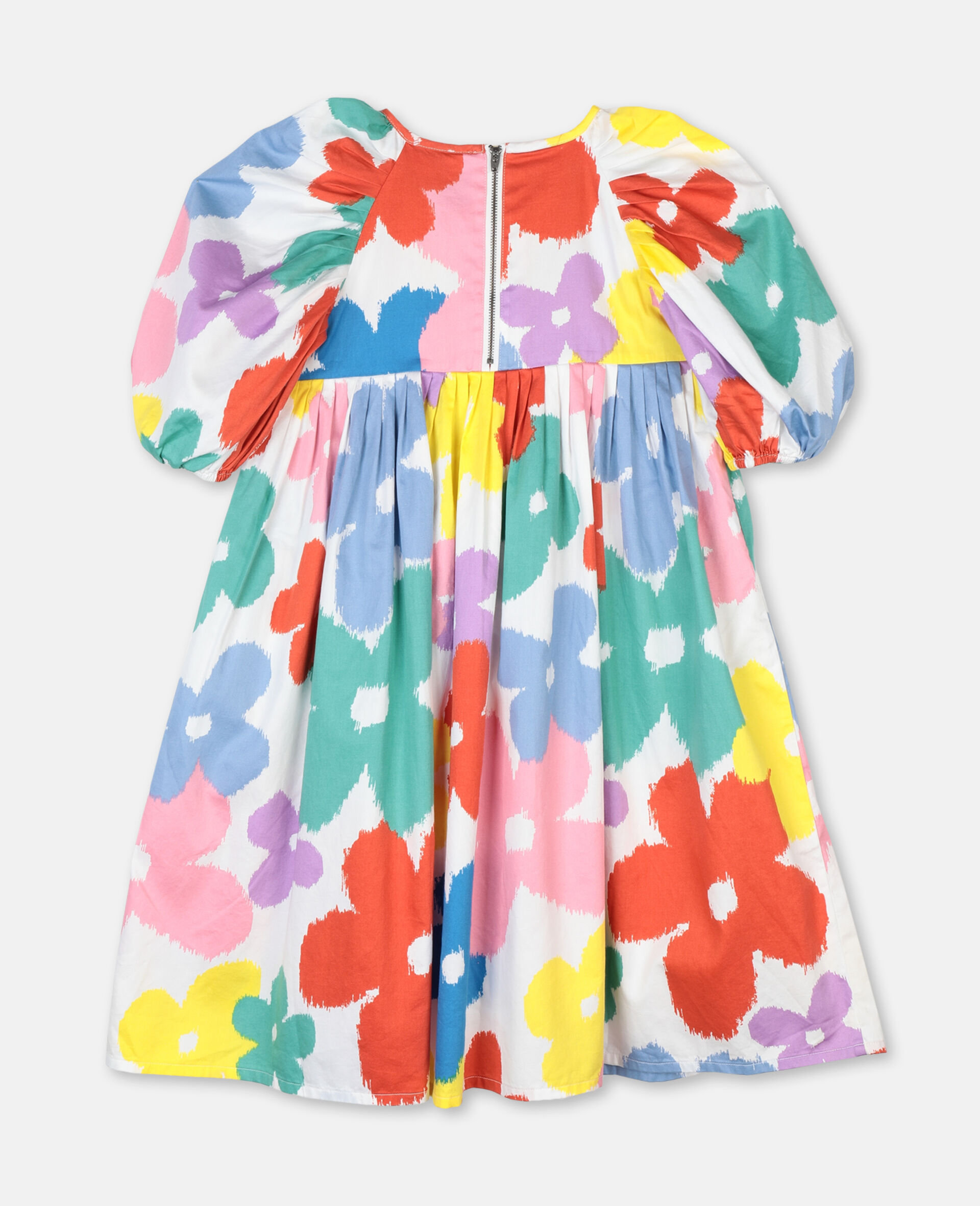 Flowers Cotton Dress-Multicolour-large image number 3