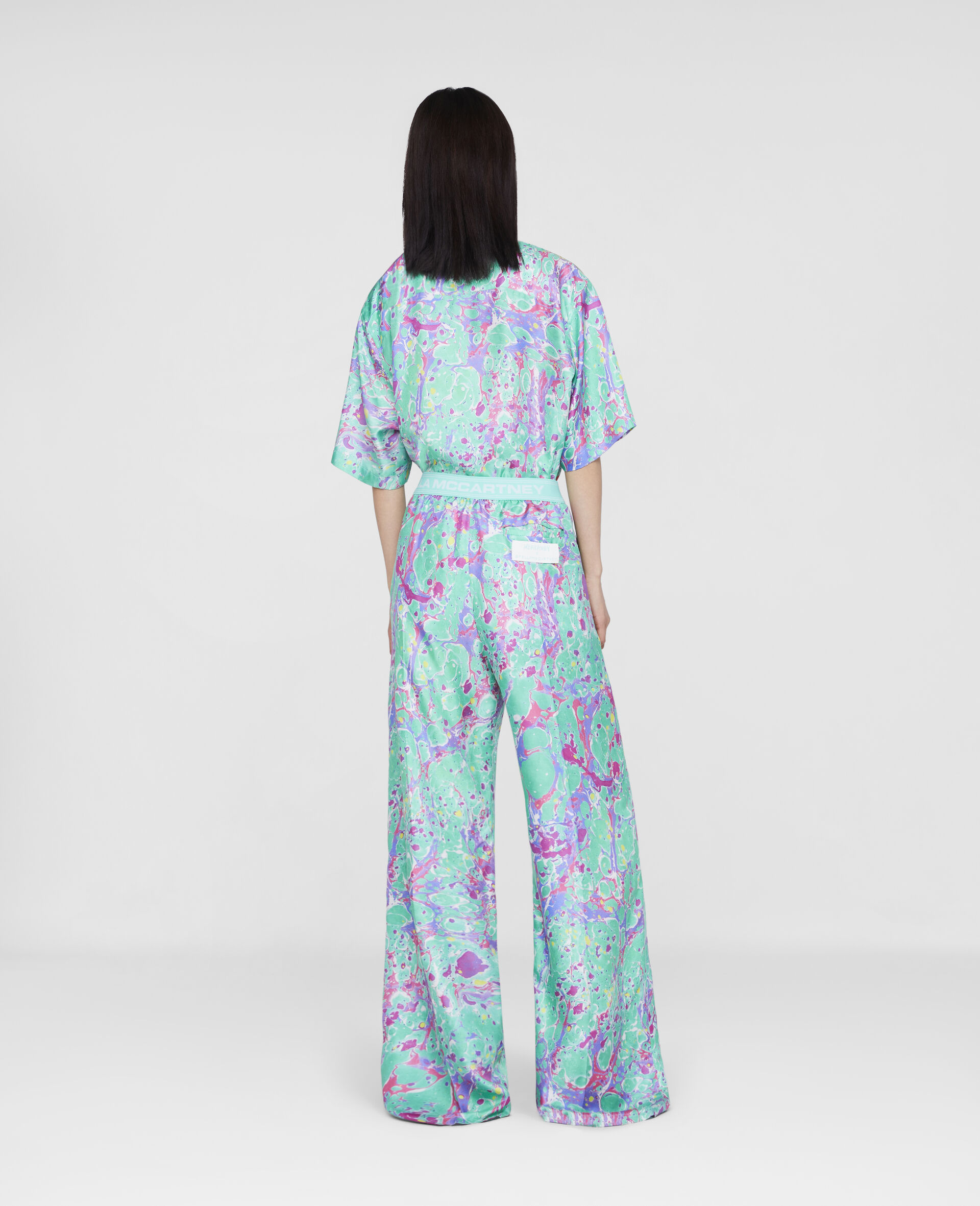 Myfawnwy Printed Silk Trousers-Multicolour-large image number 2