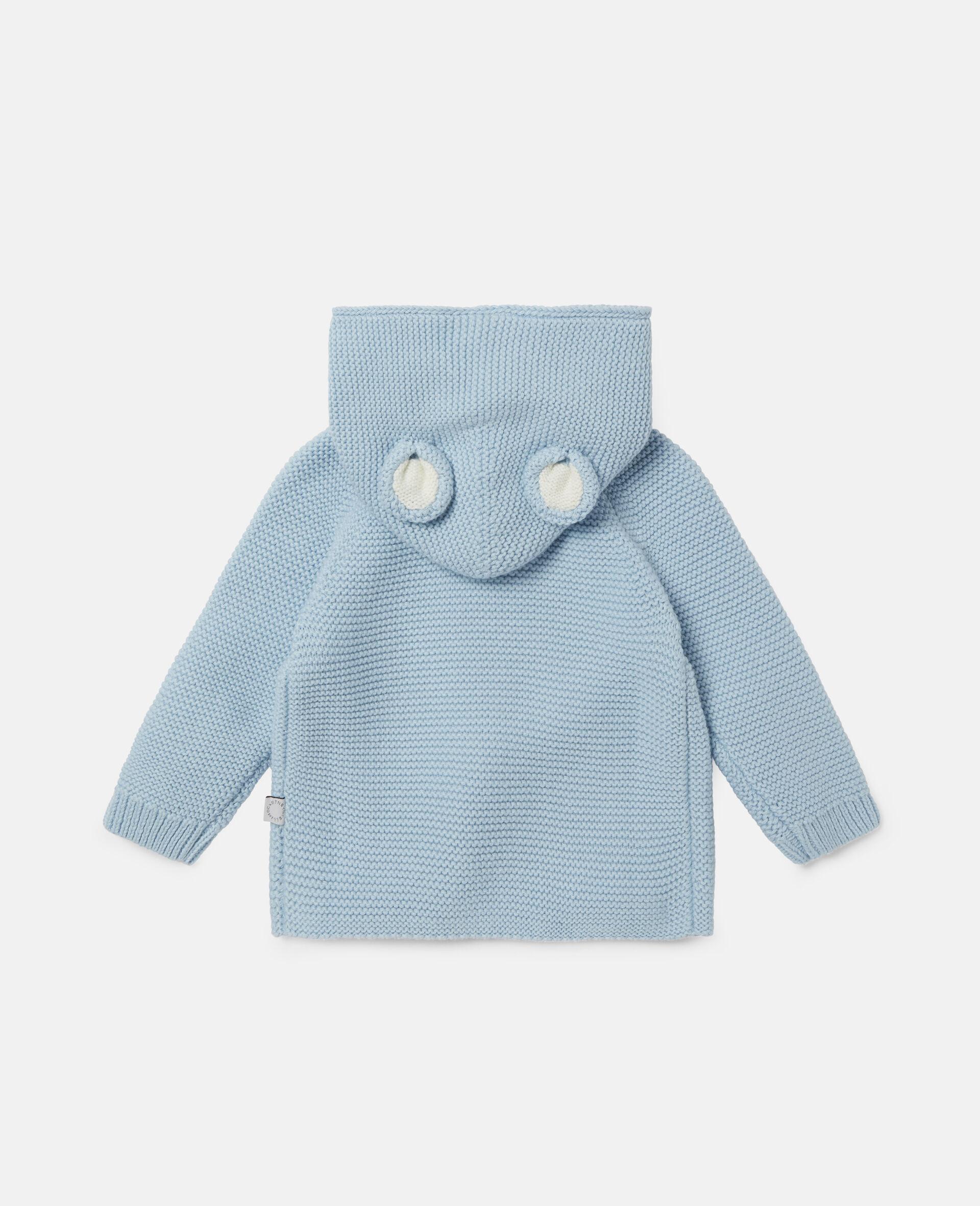 Doggie Knit Cardigan-Blue-large image number 3