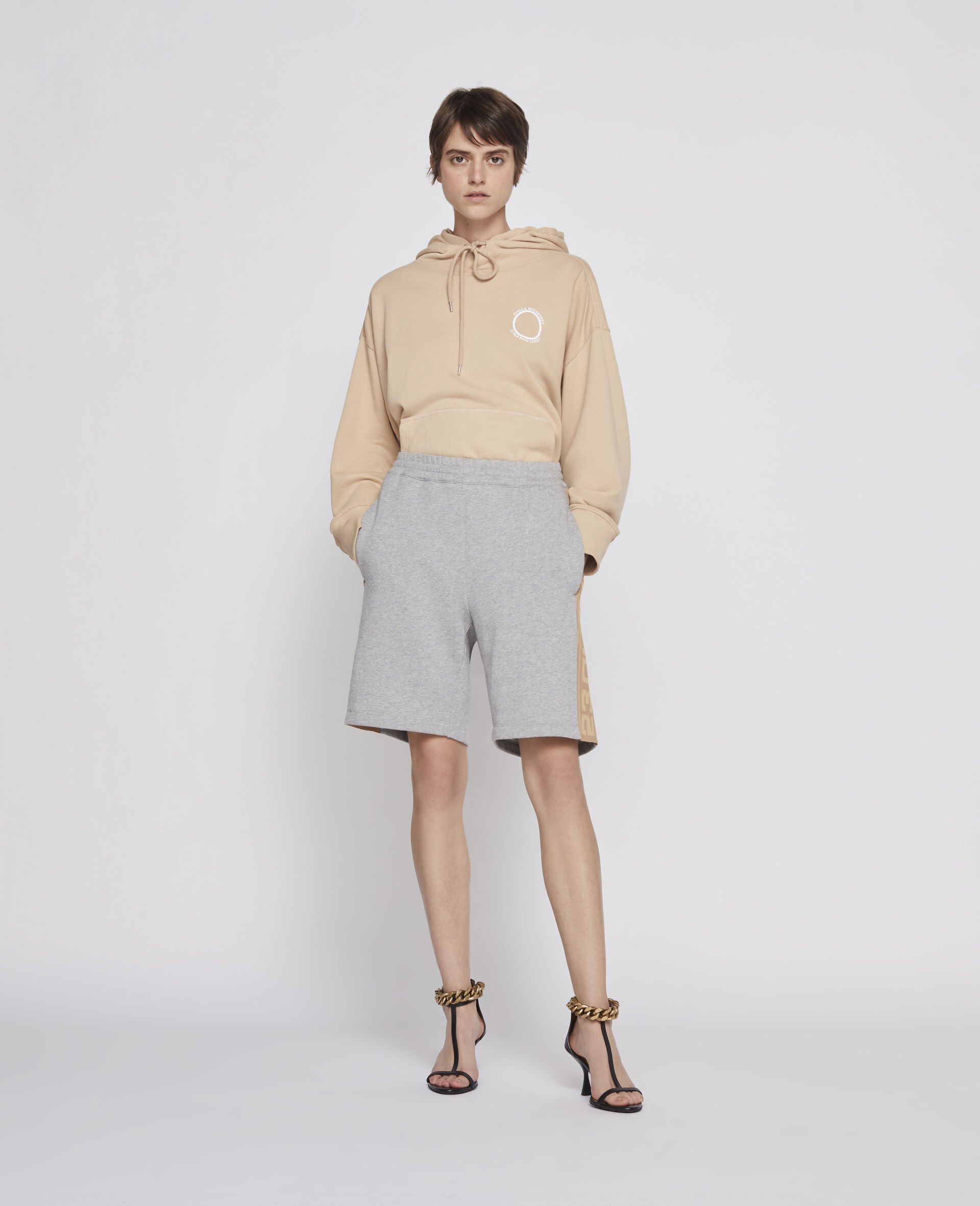 23 OBS Knitted Shorts -Grey-large image number 3
