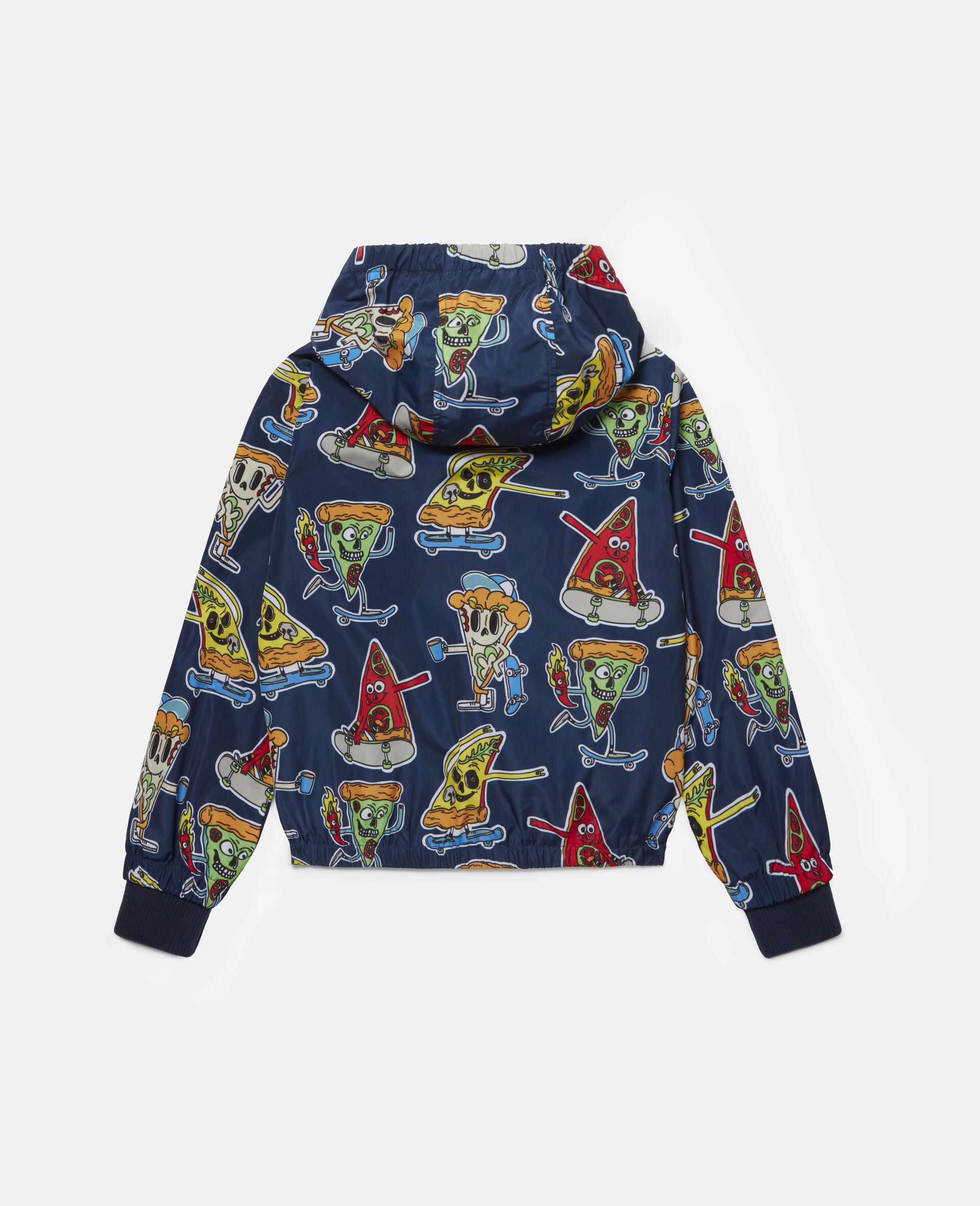 Jacke mit Pizza-Skater-Motiv -Blau-large image number 3