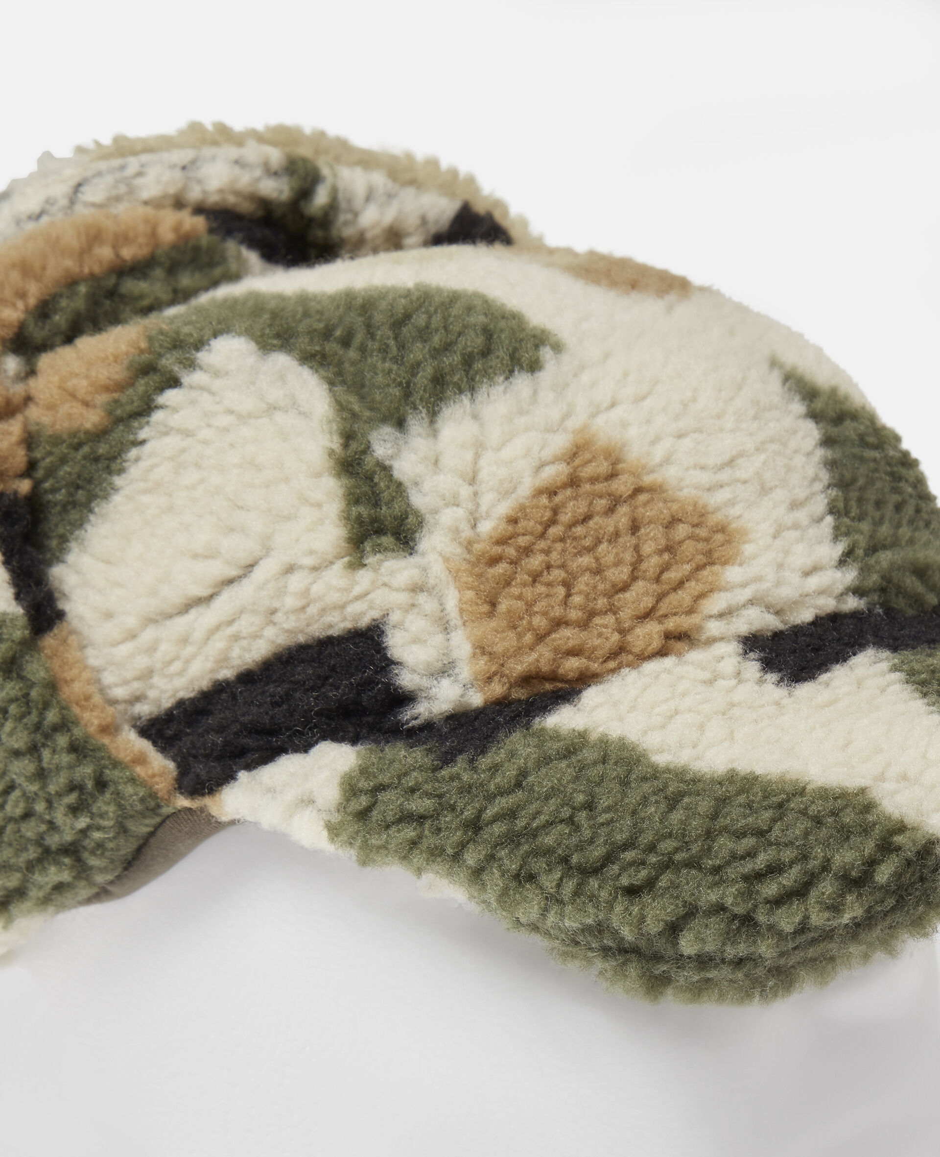 Military Camouflage Teddy Hat-Beige-large image number 1