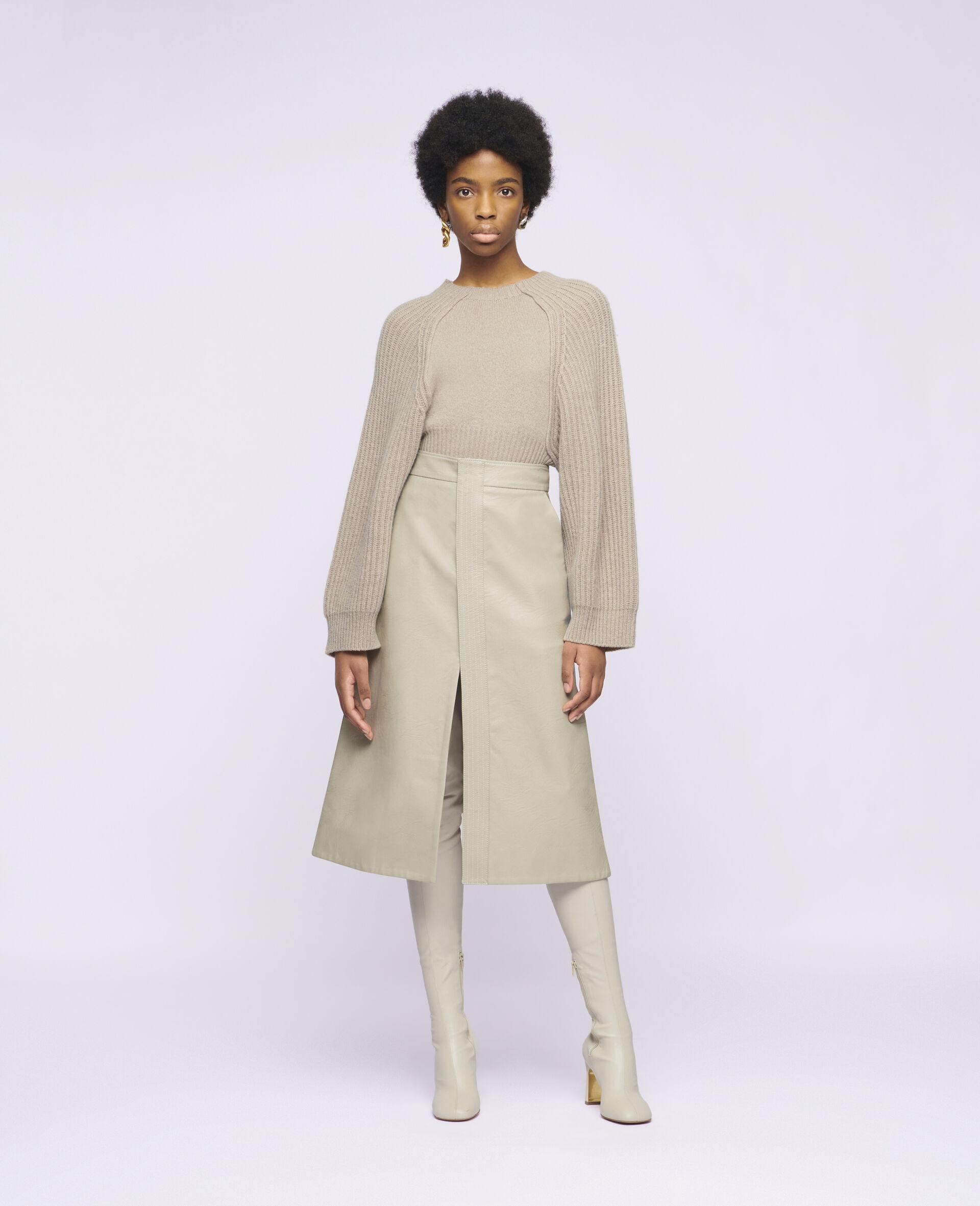 Lauren Alter Mat Skirt-Beige-large image number 1