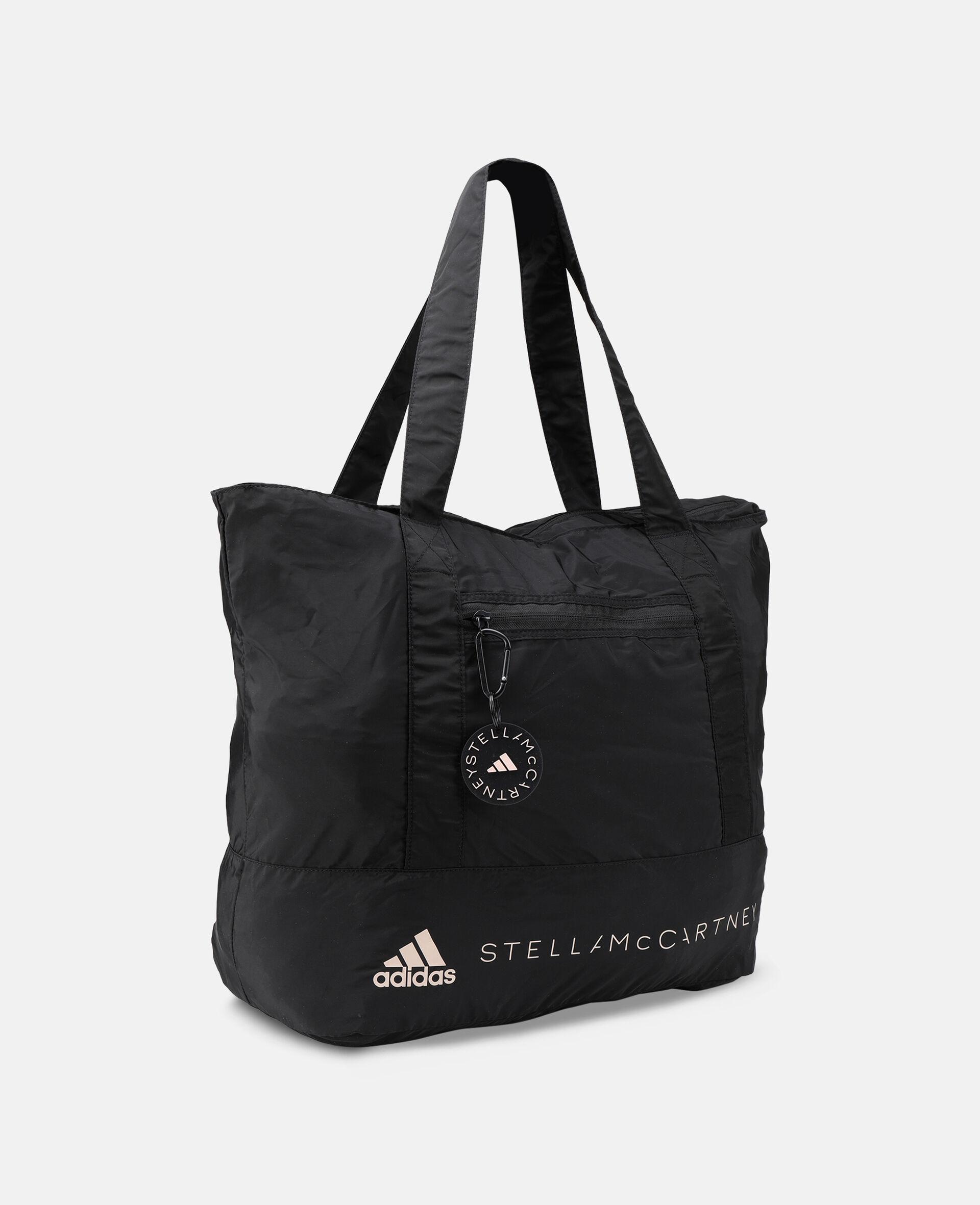Black Printed Tote Bag -Black-large image number 1
