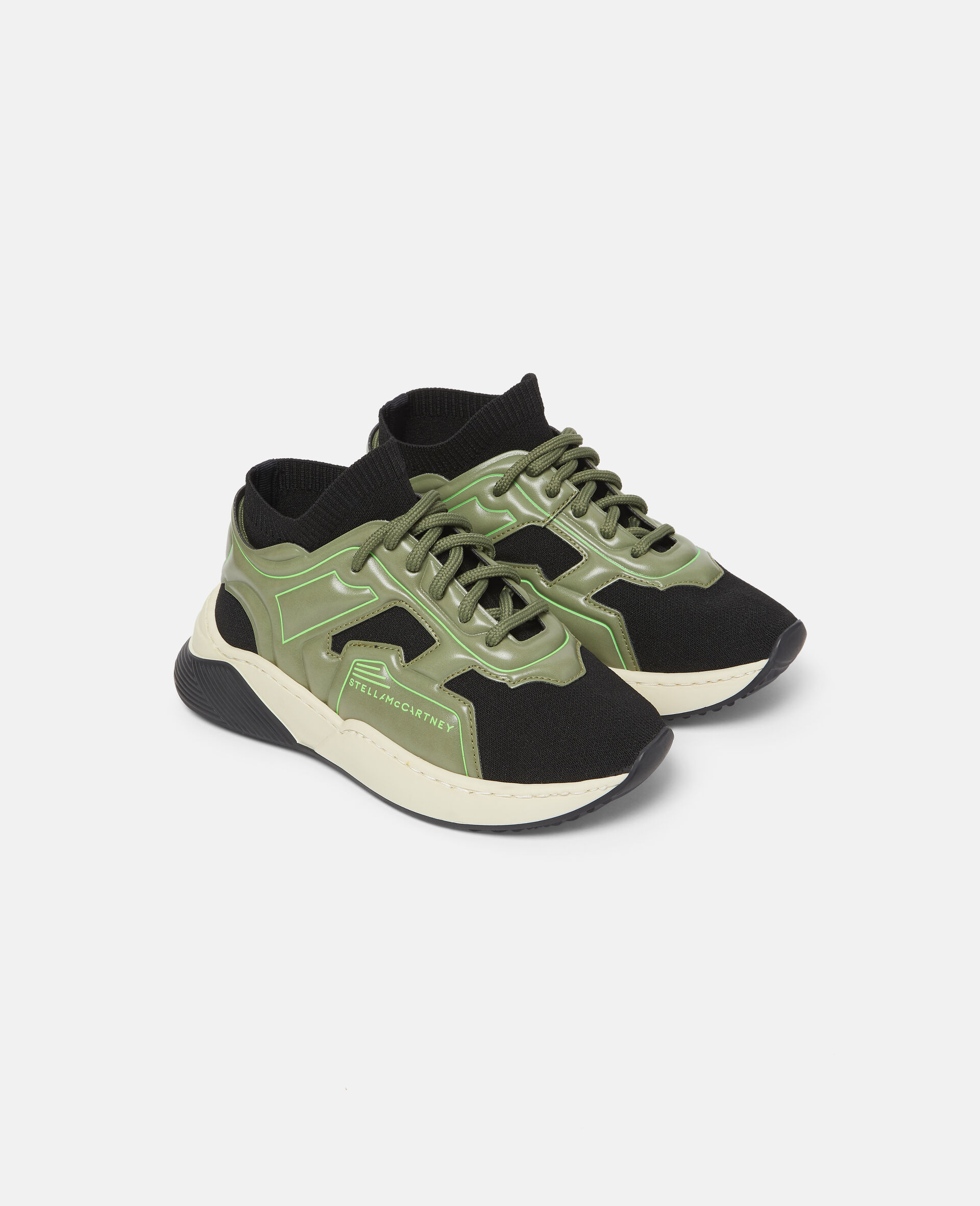Knit Sock Sport Sneakers-Black-large image number 3