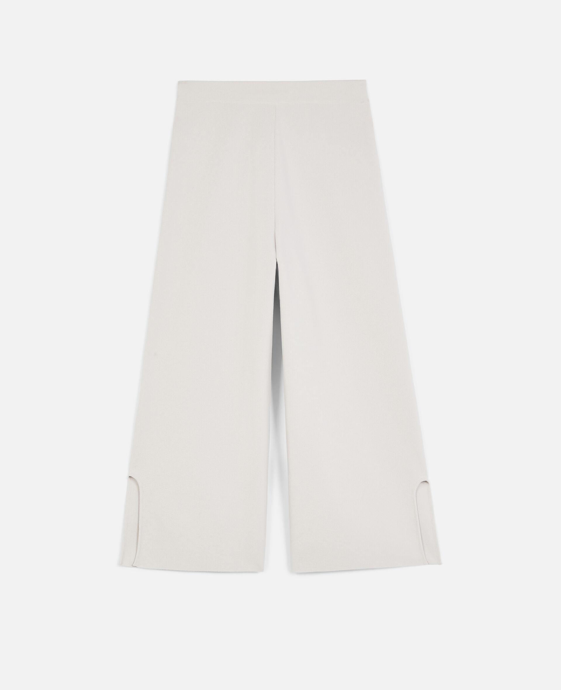 Pantalon en maille compacte-Gris-large image number 0
