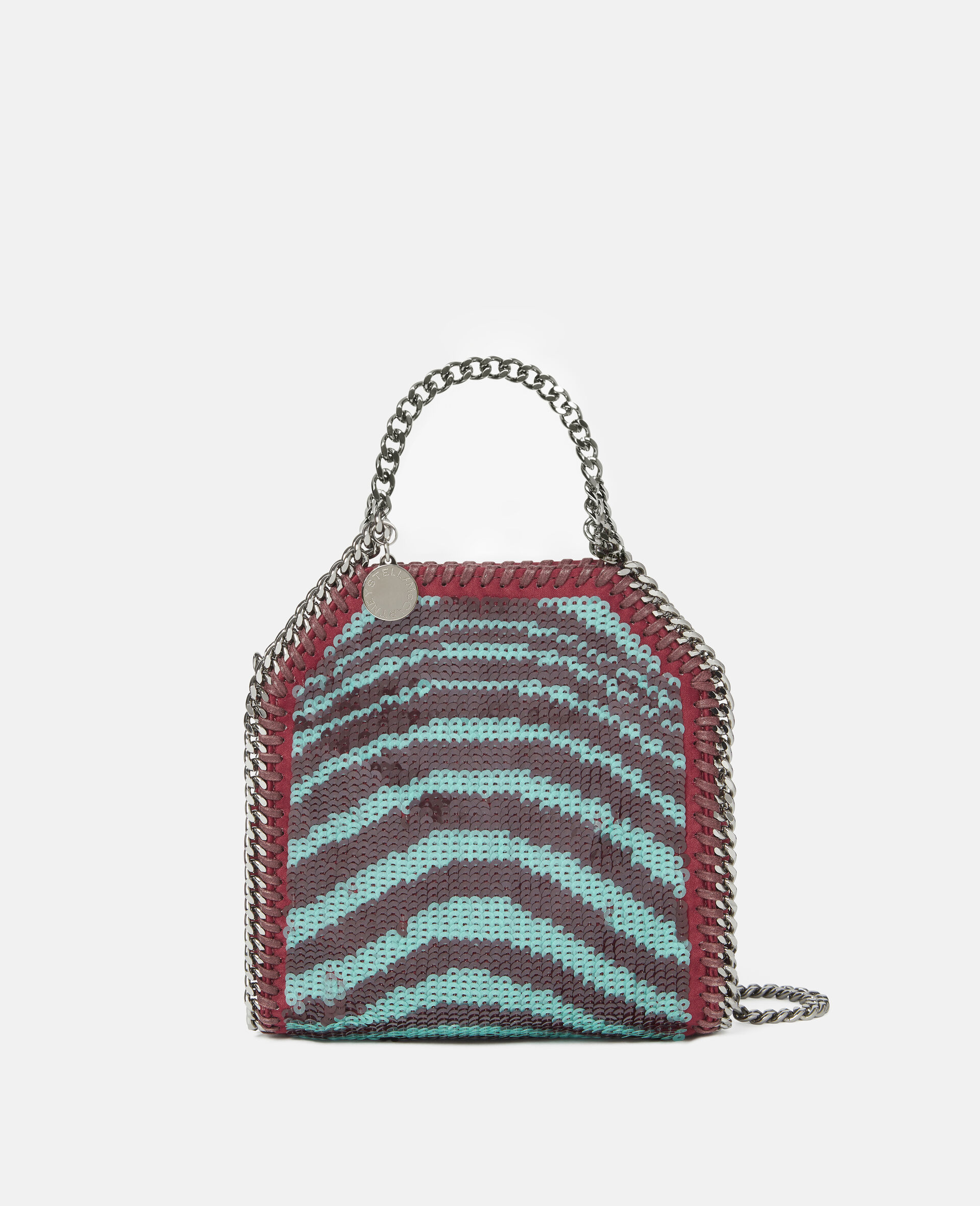 Falabella Tiny Tote Bag mit Pailletten-Rot-large image number 0