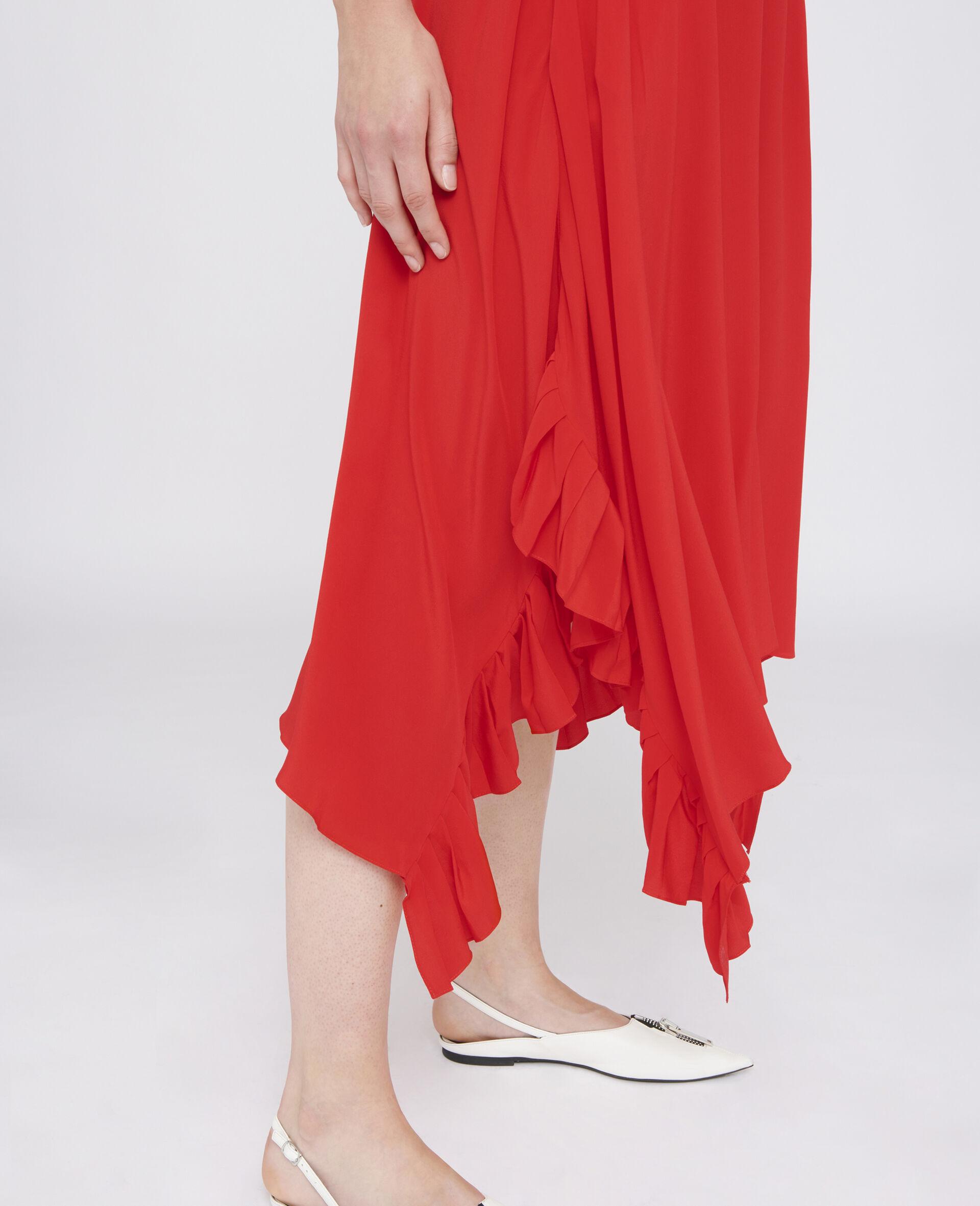 Ashlyn Silk Skirt-Red-large image number 3