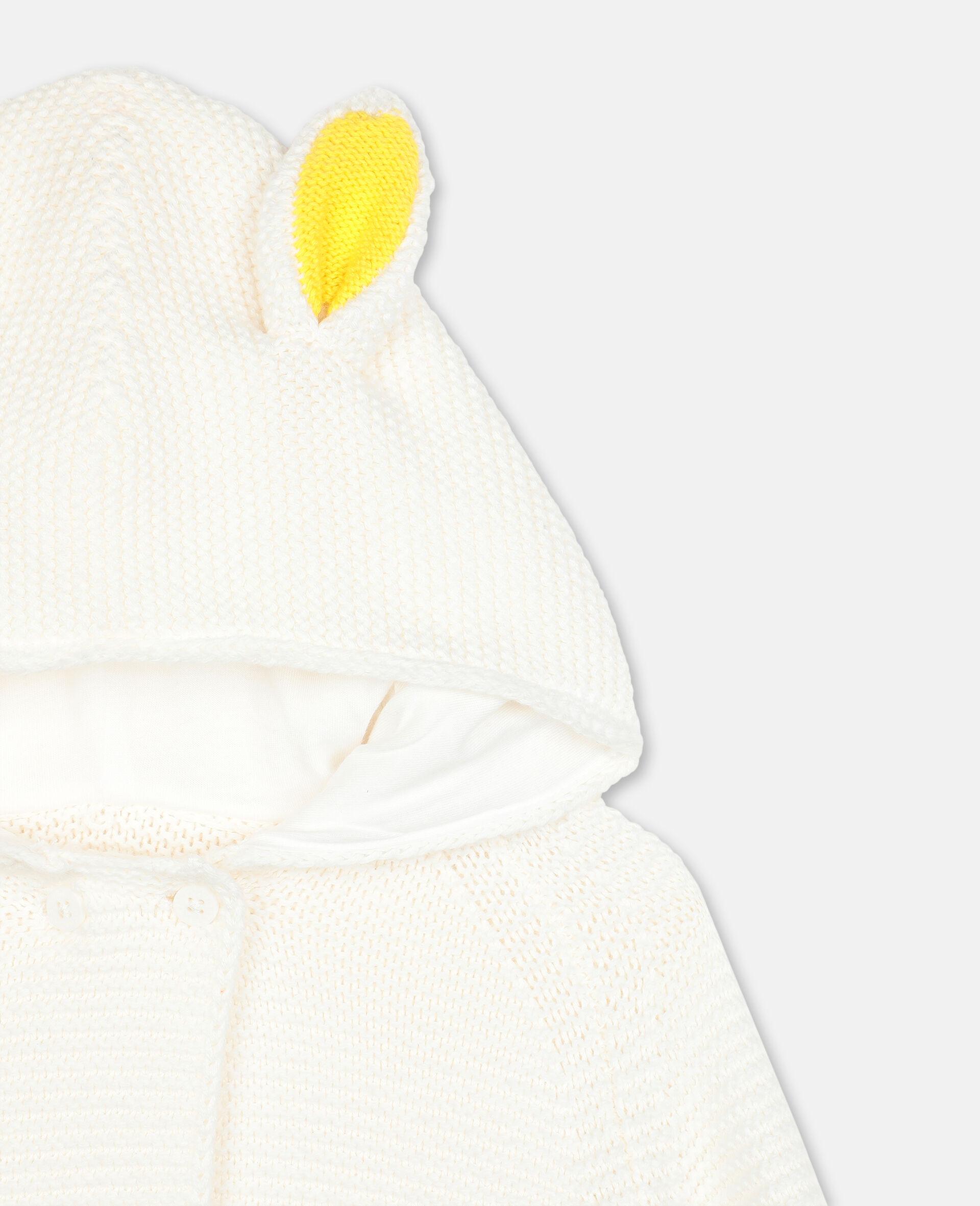 Bunny Knit Cardigan-White-large image number 1