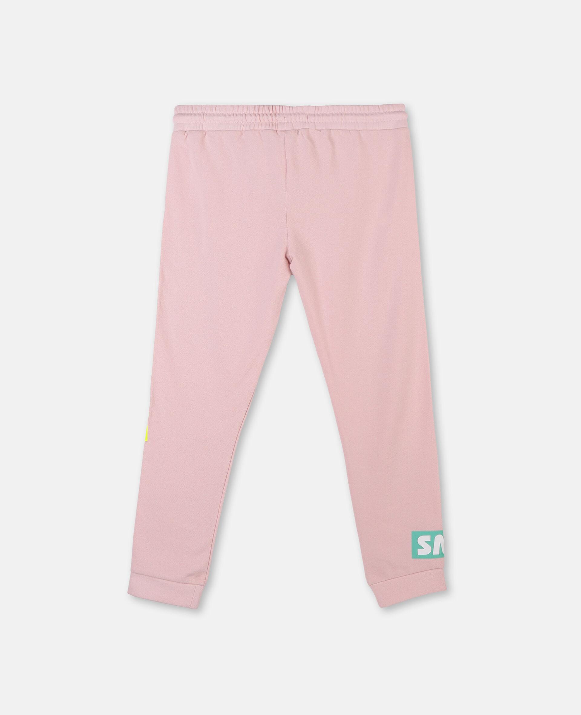 Logo Badge Cotton Fleece Sweatpants -Pink-large image number 3