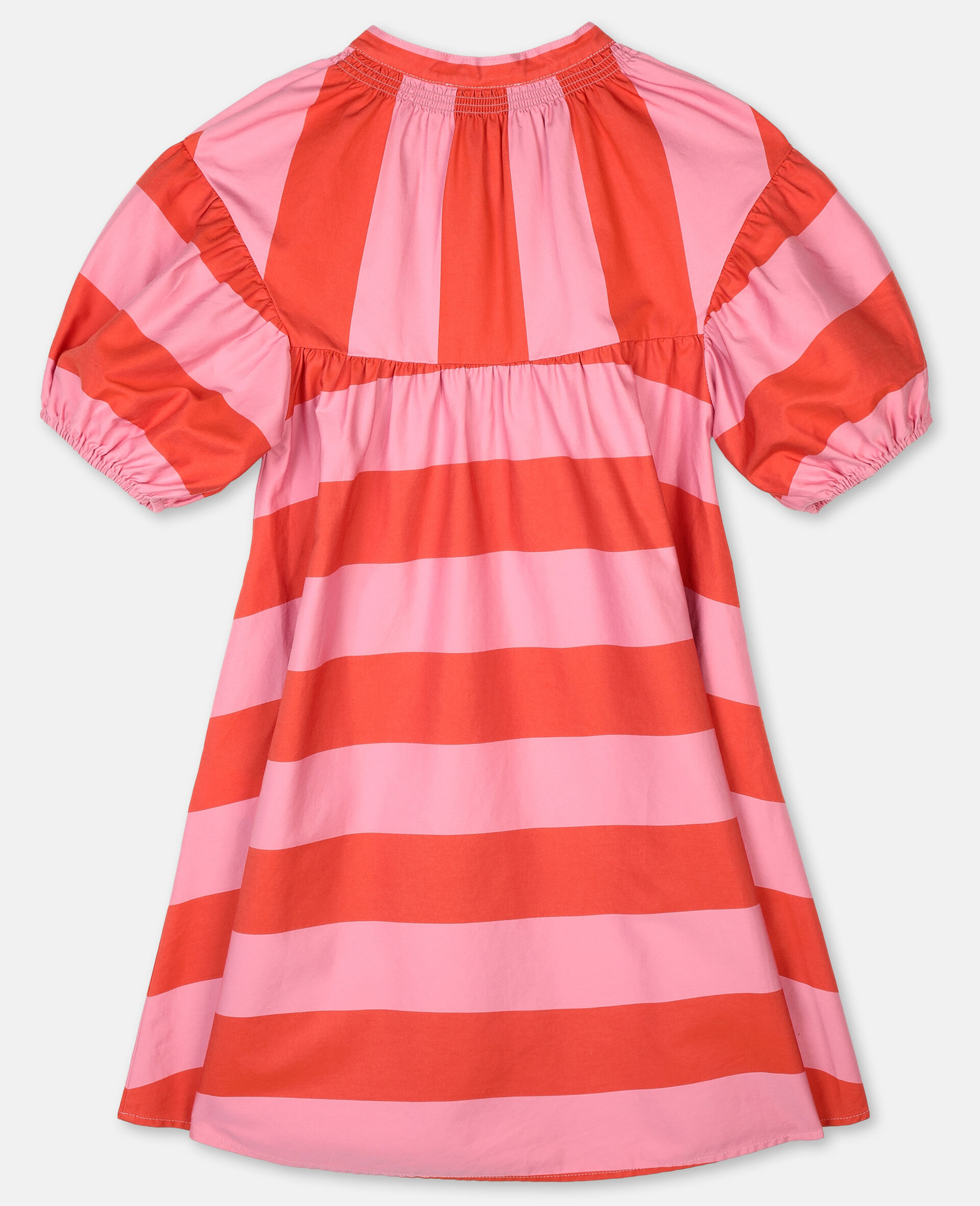 Striped Cotton Dress -Pink-large image number 3