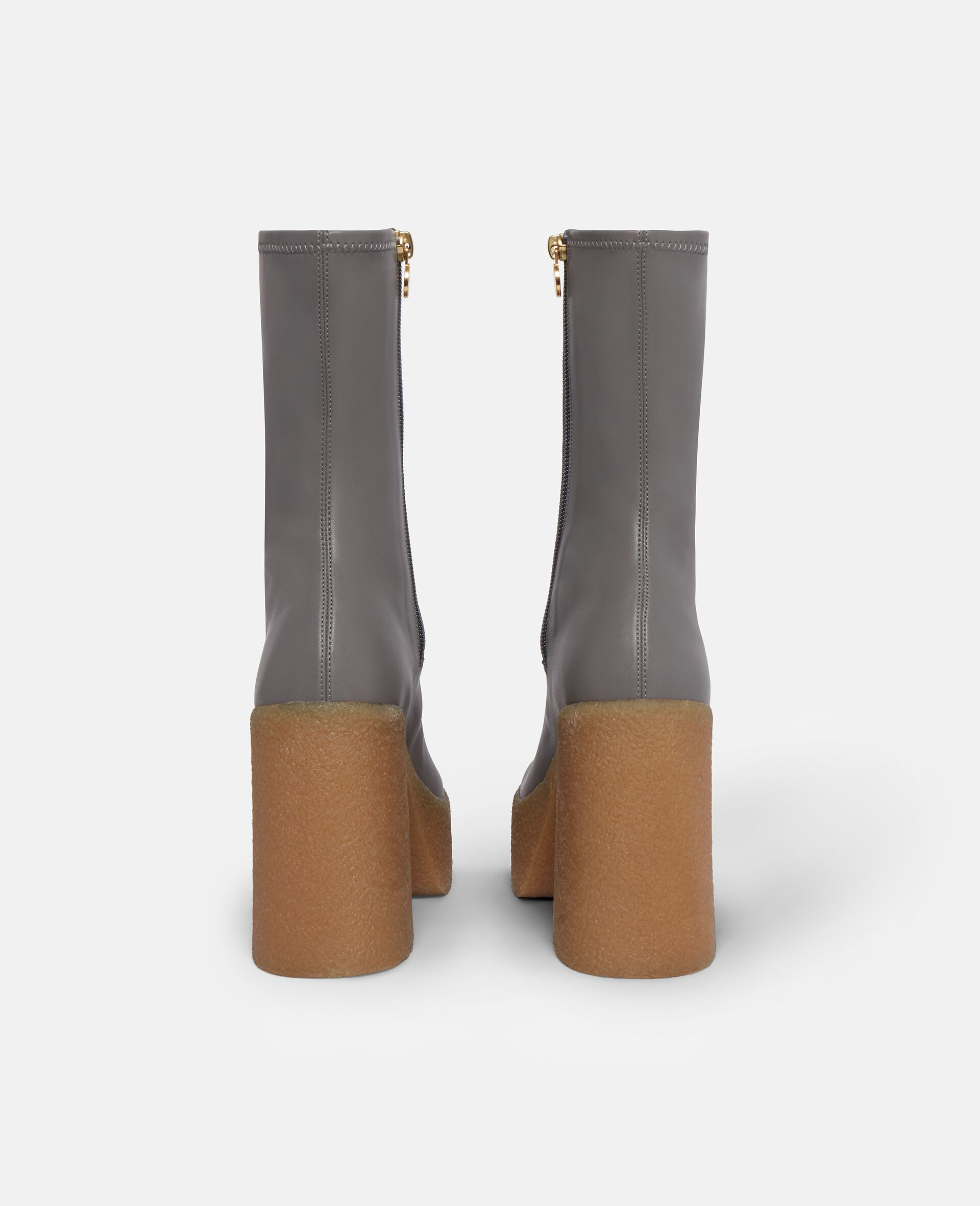 Chunky Ankle Boots-Grey-large image number 2