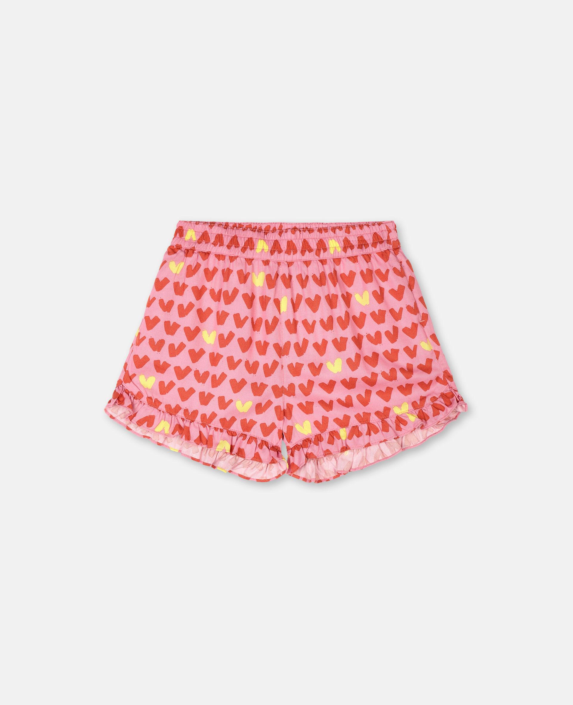 Shorts aus Viskose-Twill mit Herz-Print -Rose-large image number 0