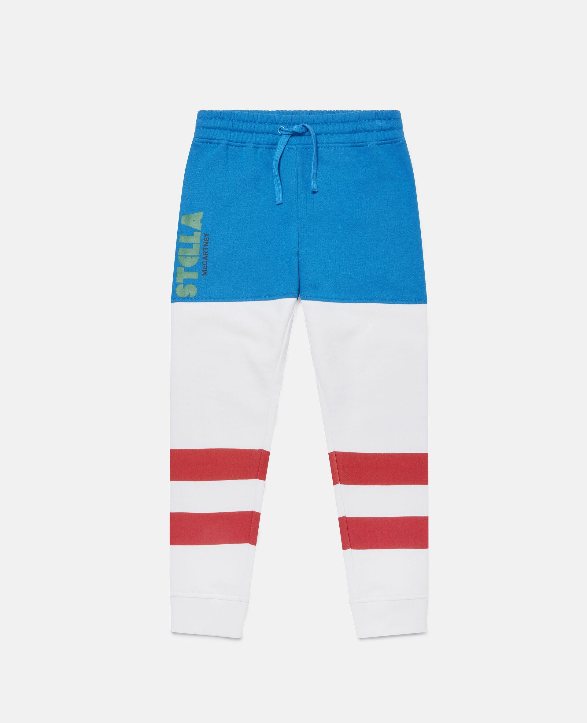 Pantaloni Sportivi a Blocchi di Colore-Fantasia-large image number 0