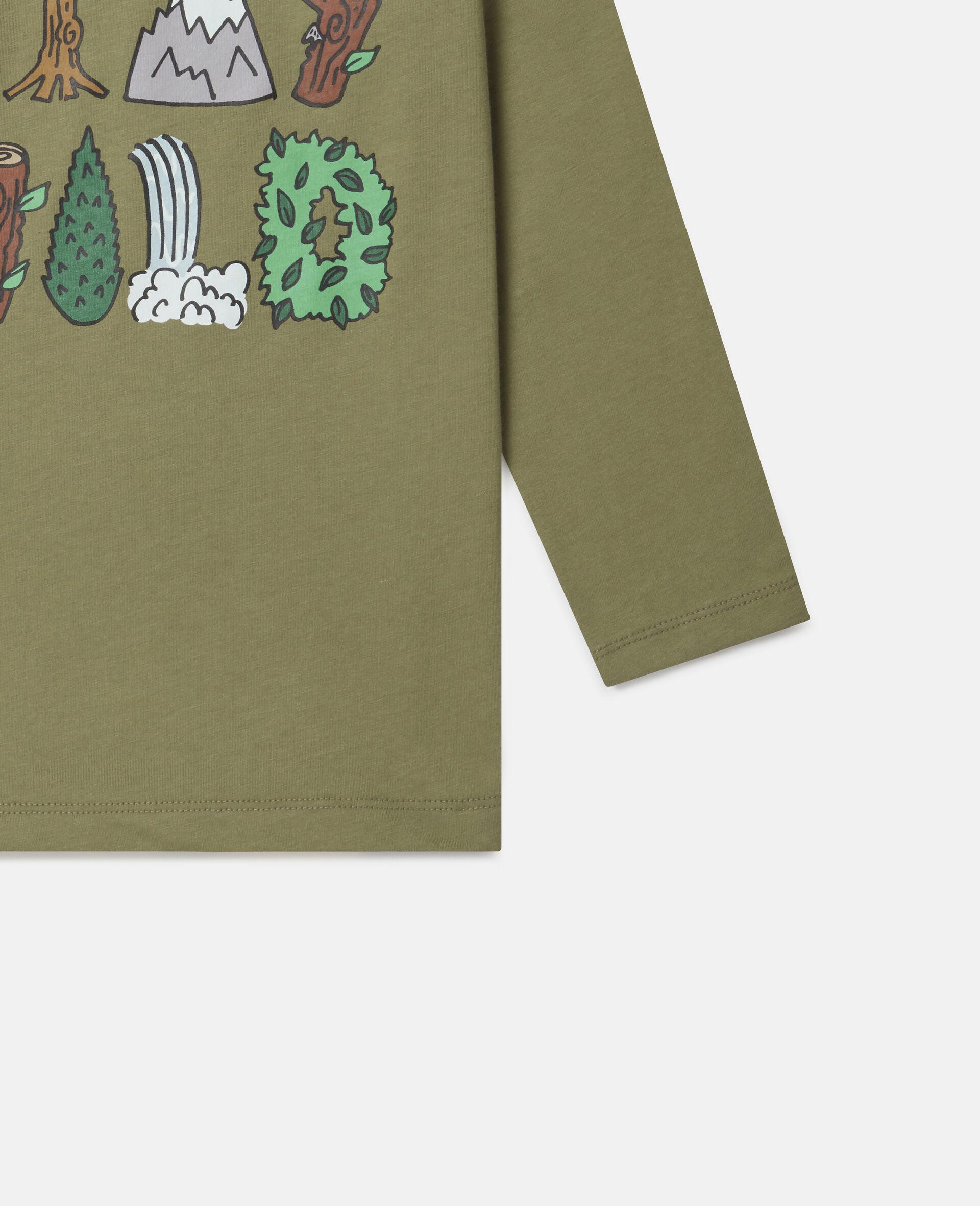 "T-Shirt Oversize ""Stay Wild""-Verde-large image number 2"
