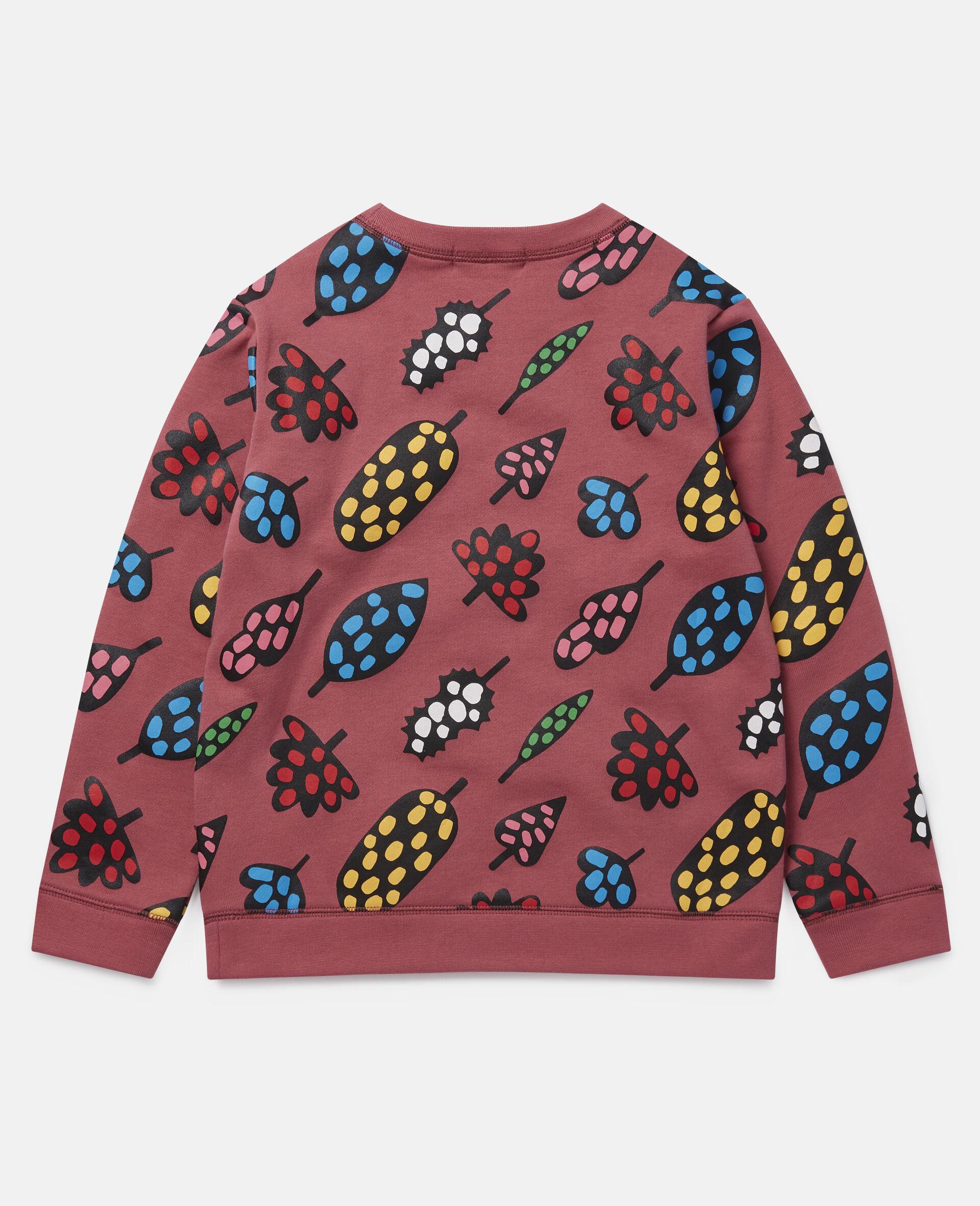 Spotty Leaves Cotton Fleece Sweatshirt -Multicolour-large image number 3