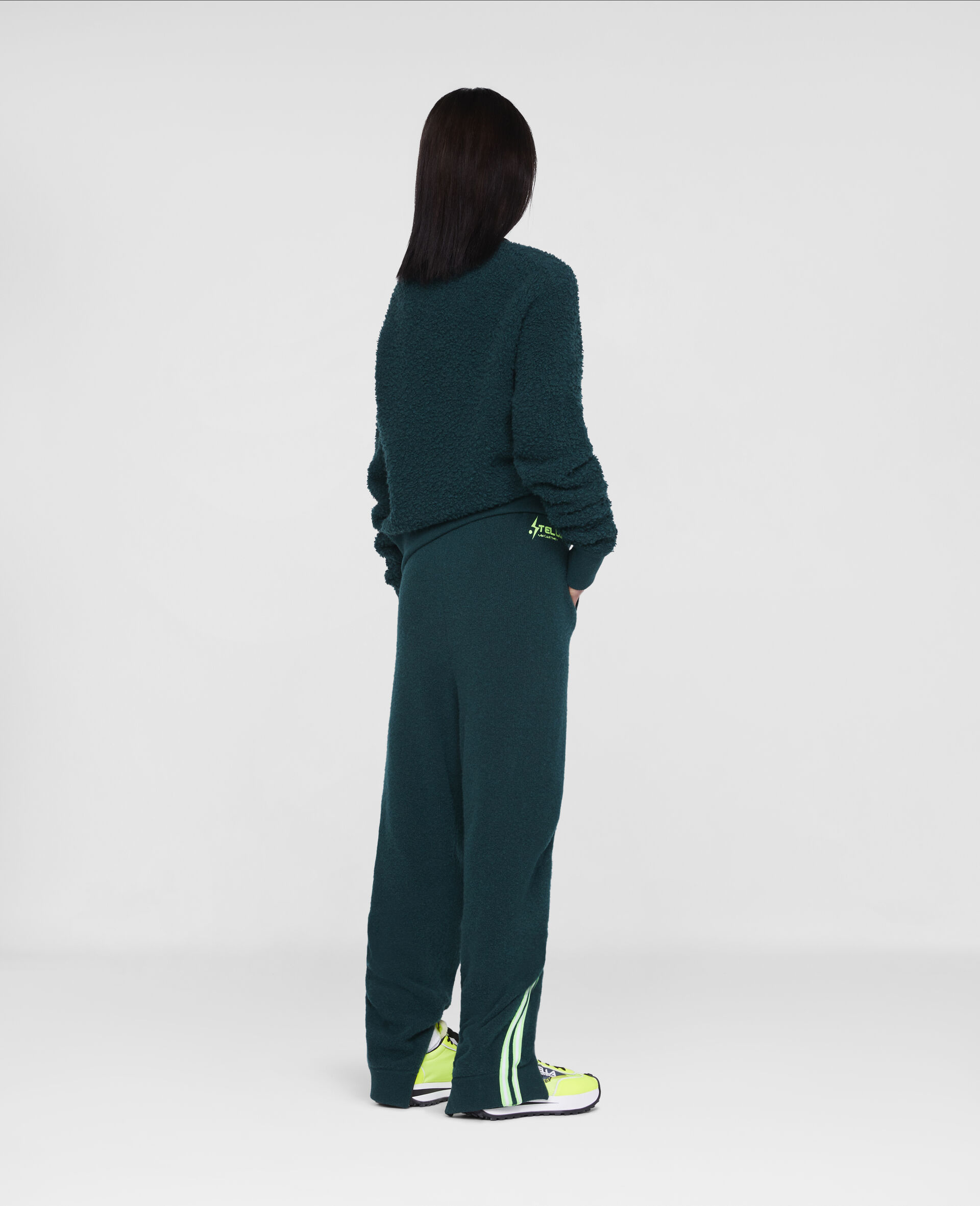 Tom Tosseyn Stella Logo Fleece Jumper -Green-large image number 2