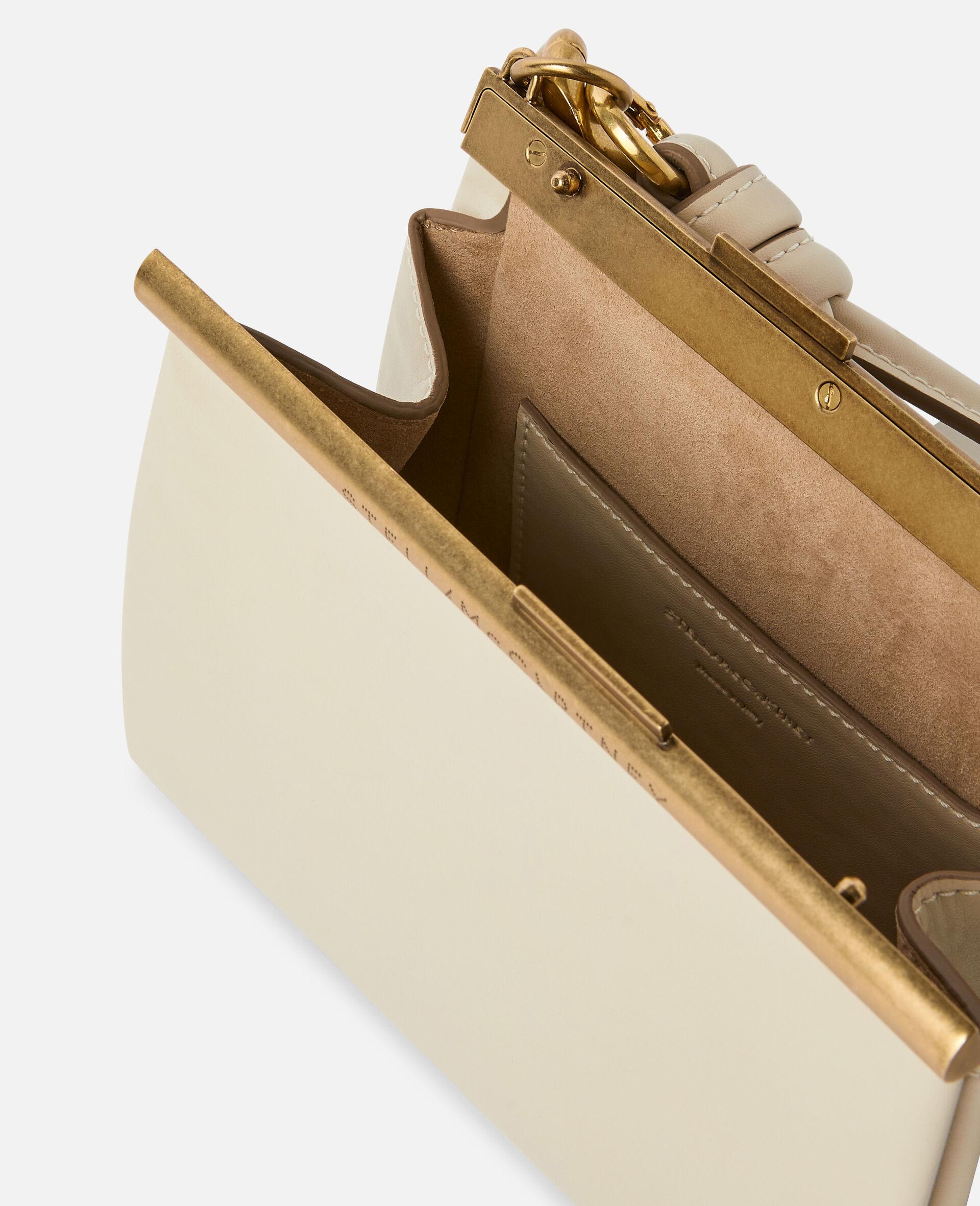 Kleine Tasche mit massiver Kette-Weiß-large image number 3