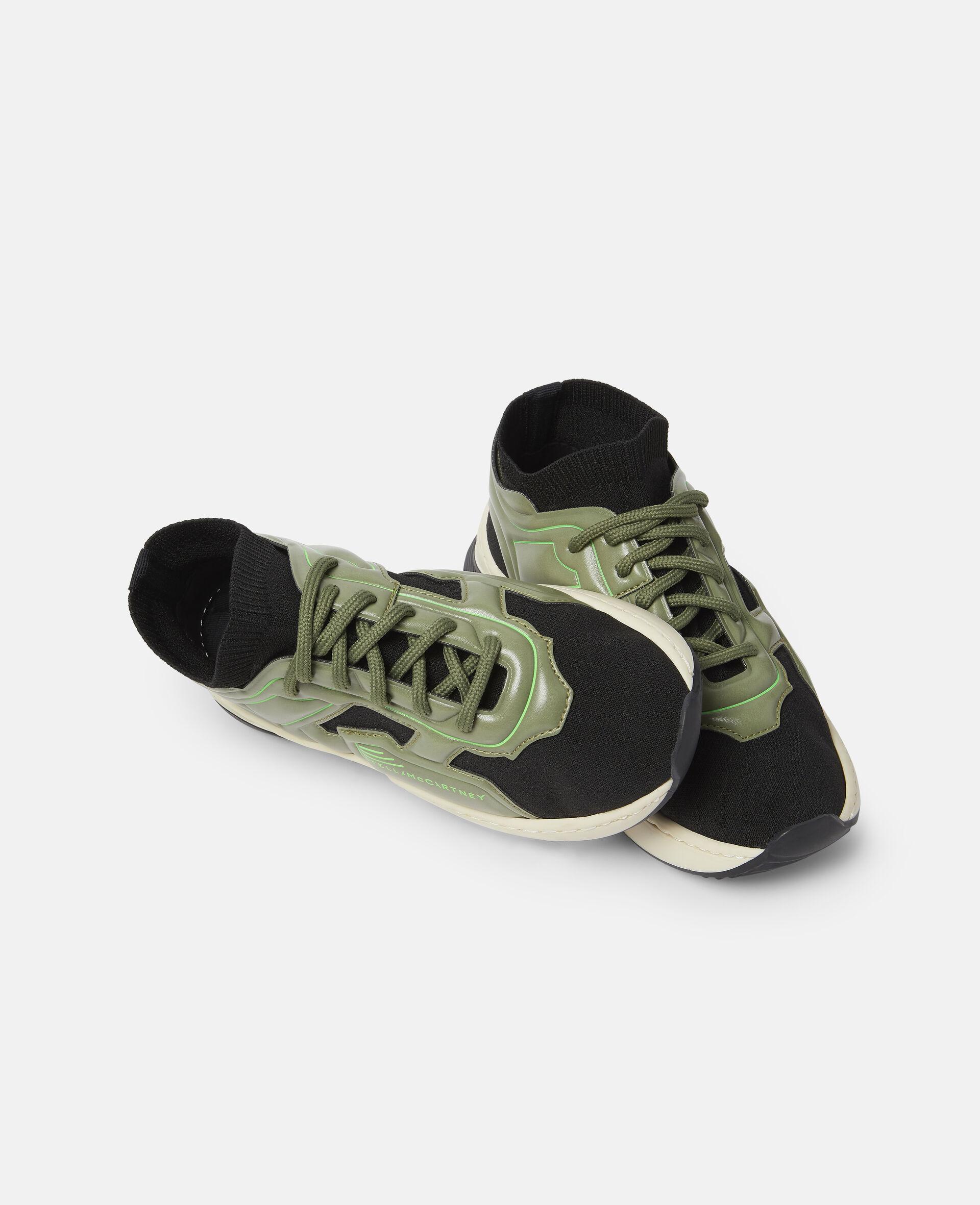 Baskets de sport à chaussettes en maille-Noir-large image number 1