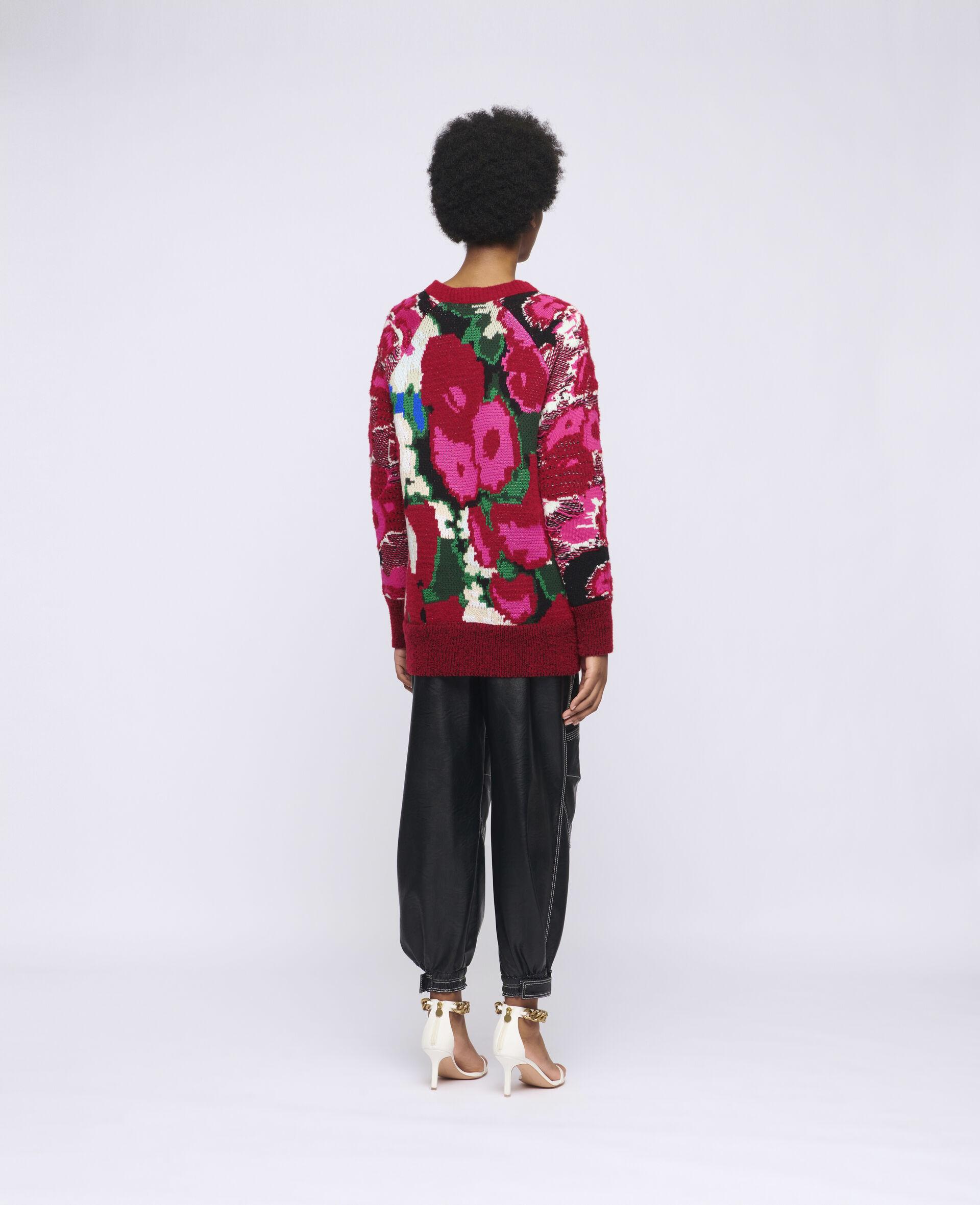 Pull en jacquard à motif floral-Fantaisie-large image number 2