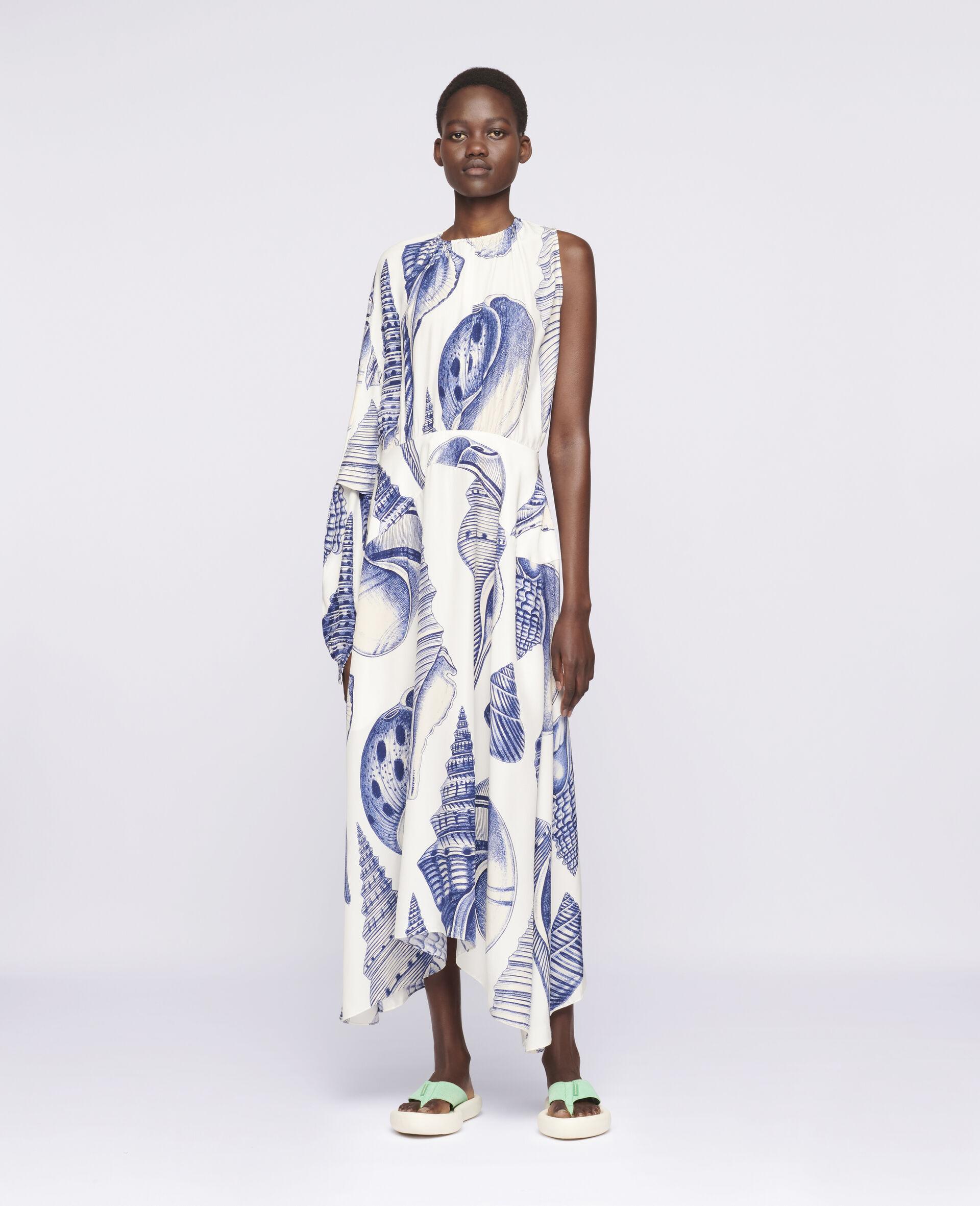Cassandra Silk Dress-White-large image number 1