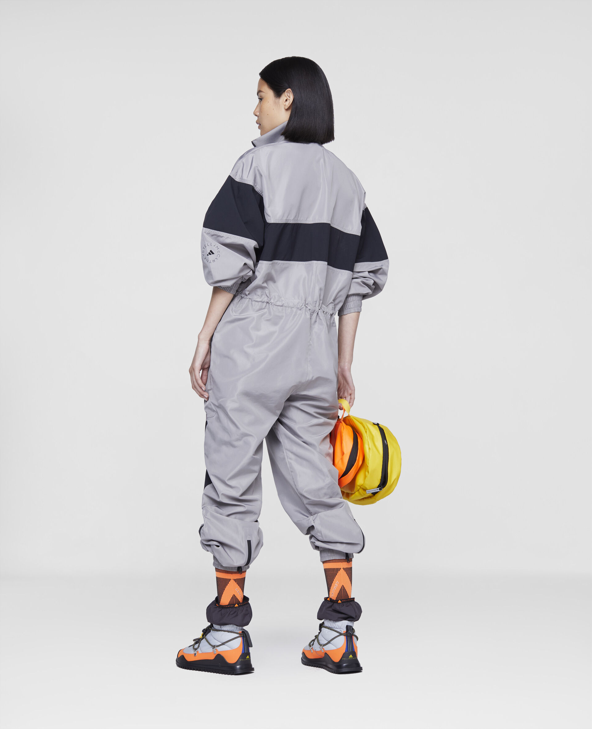 Earth Protector Woven Jumpsuit-Grey-large image number 2