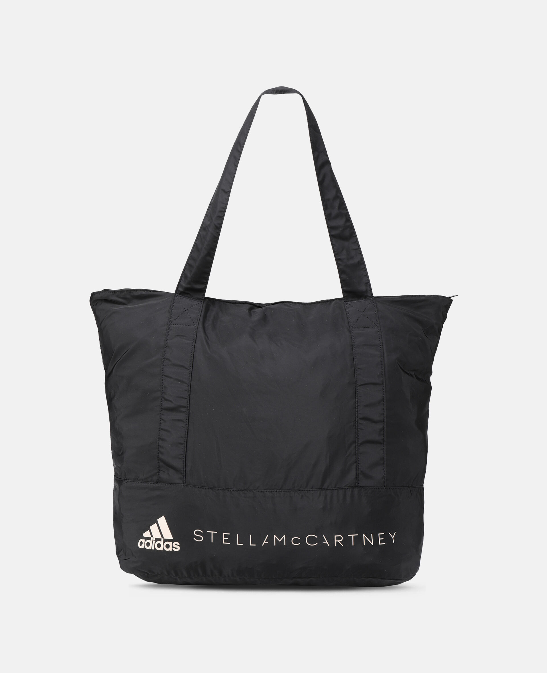 Black Printed Tote Bag -Black-large image number 4