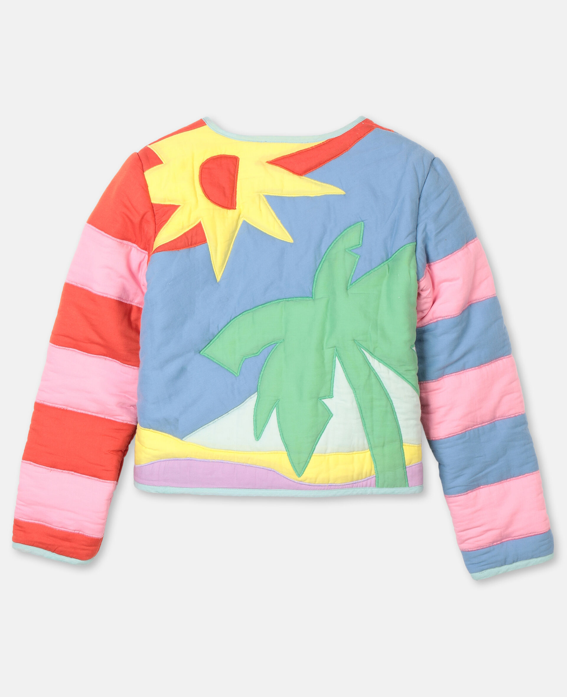 Palms Patches Cotton Jacket -Multicoloured-large image number 3