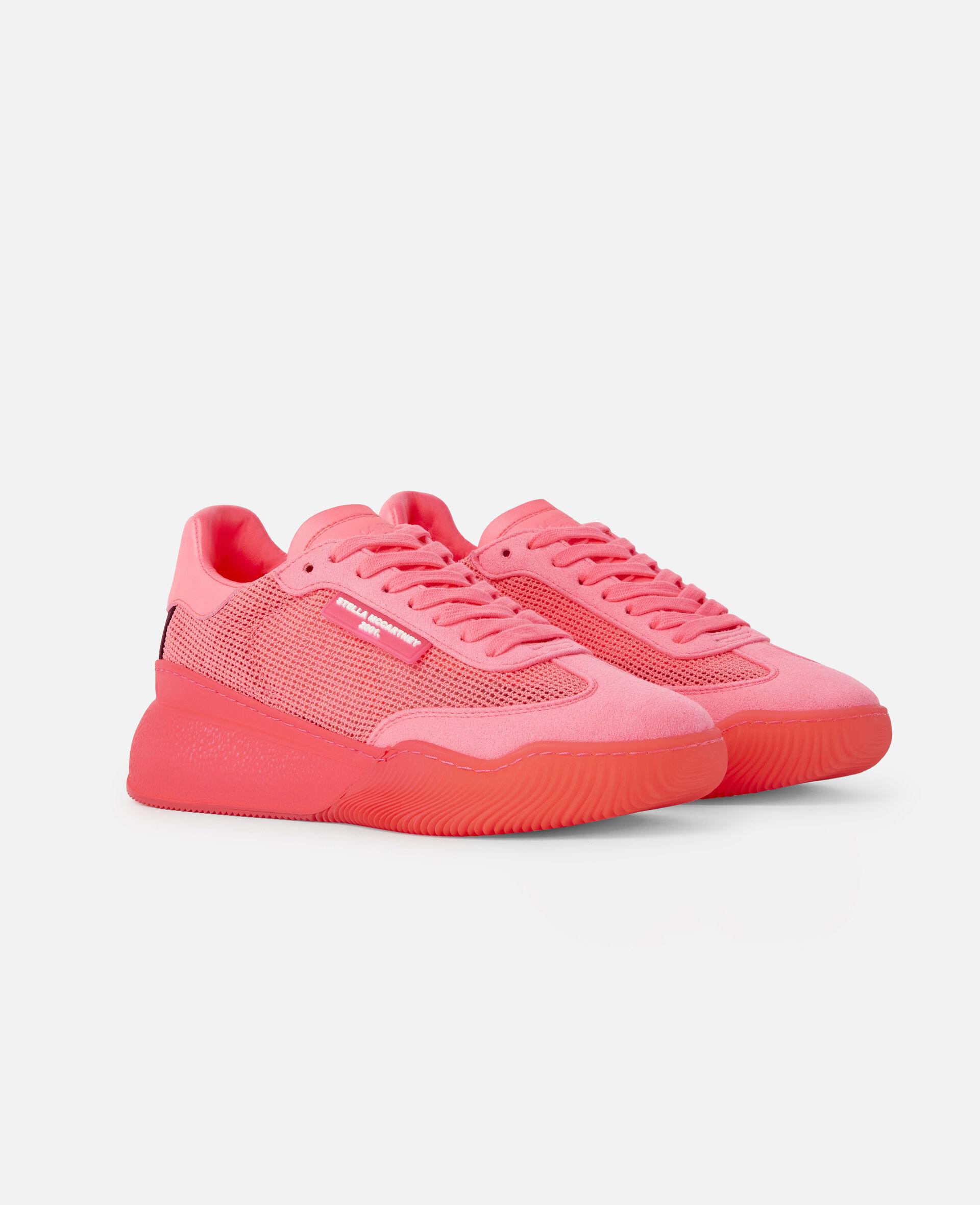 Loop Square Mesh Sneakers -Pink-large image number 1