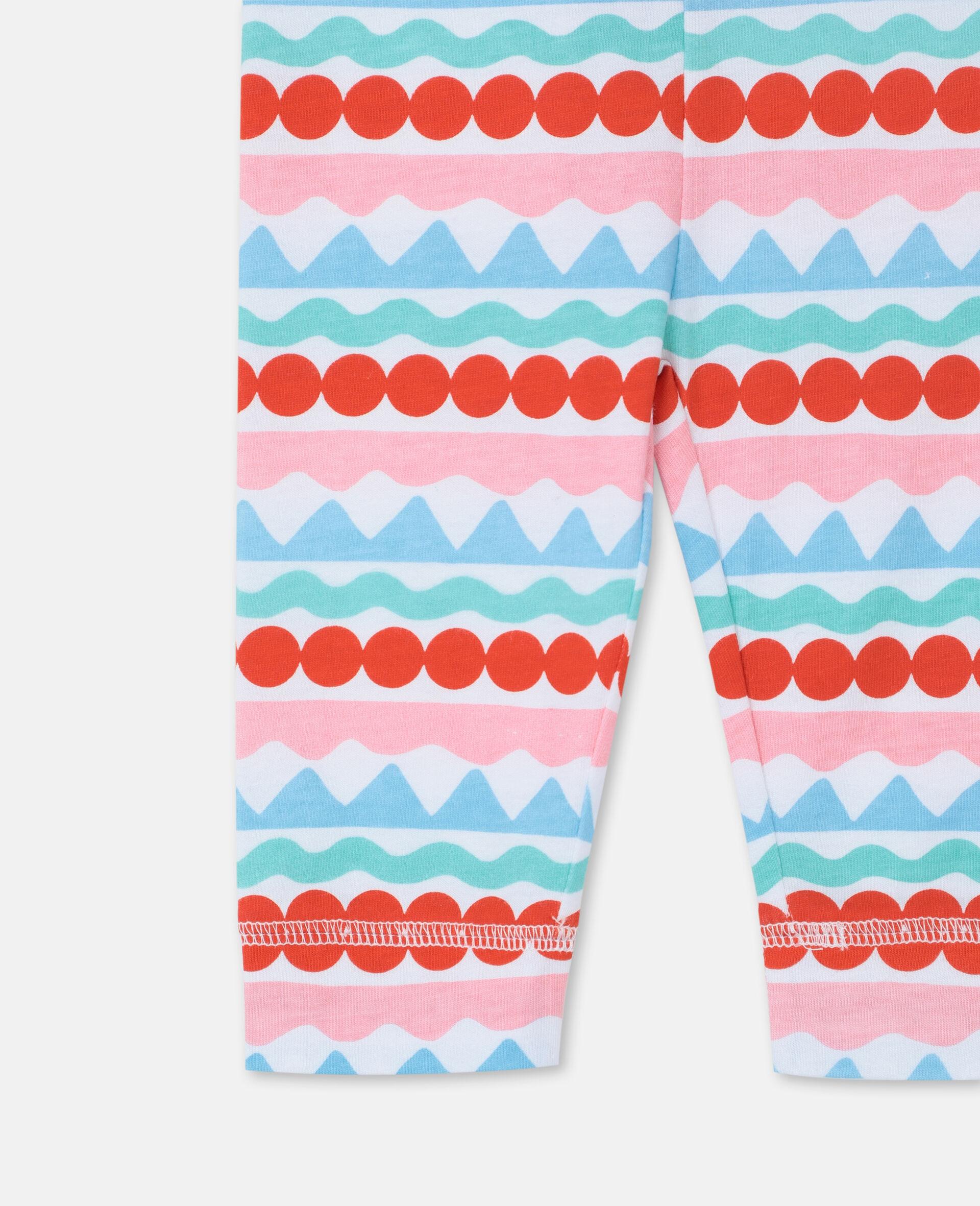 Graphic Striped Leggings-Multicolour-large image number 2