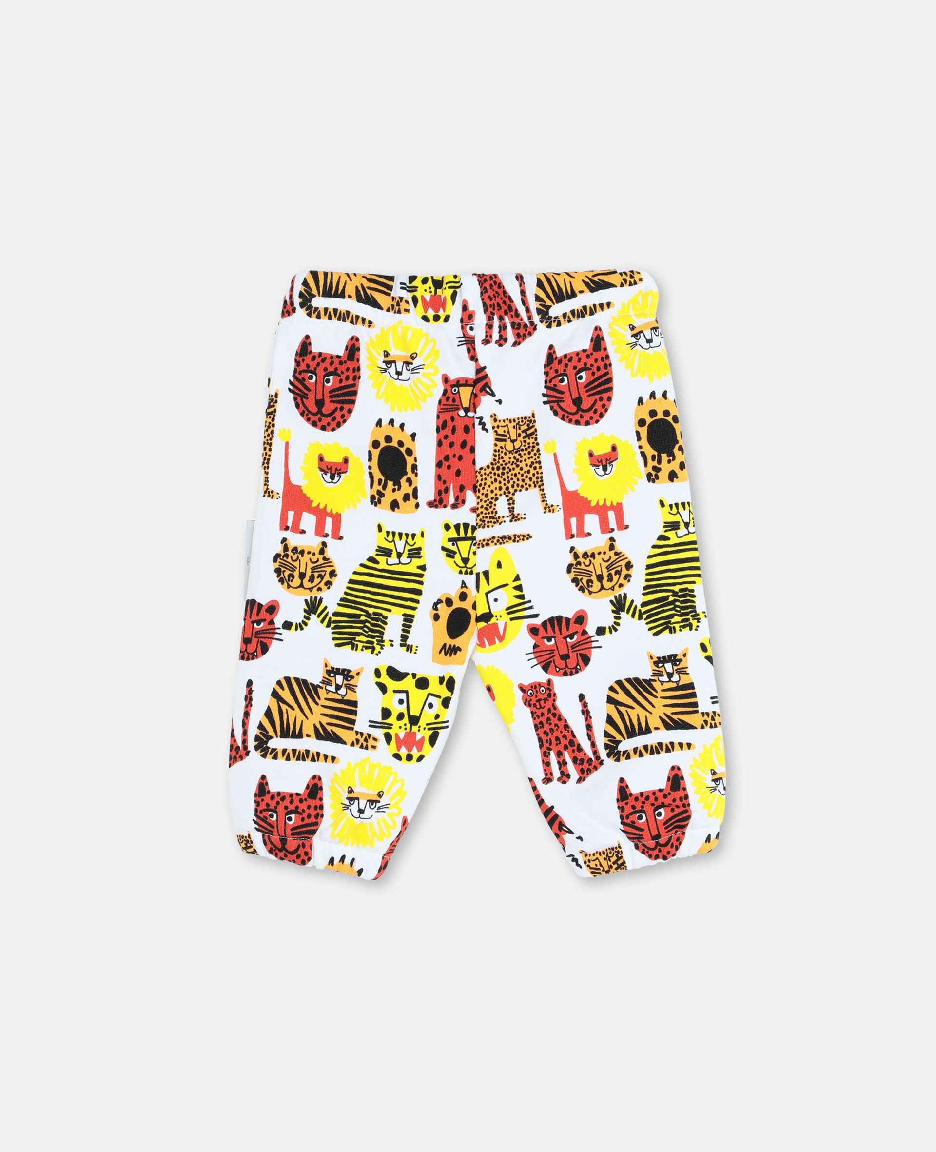 Wild Cats Cotton Joggers -Yellow-large image number 3