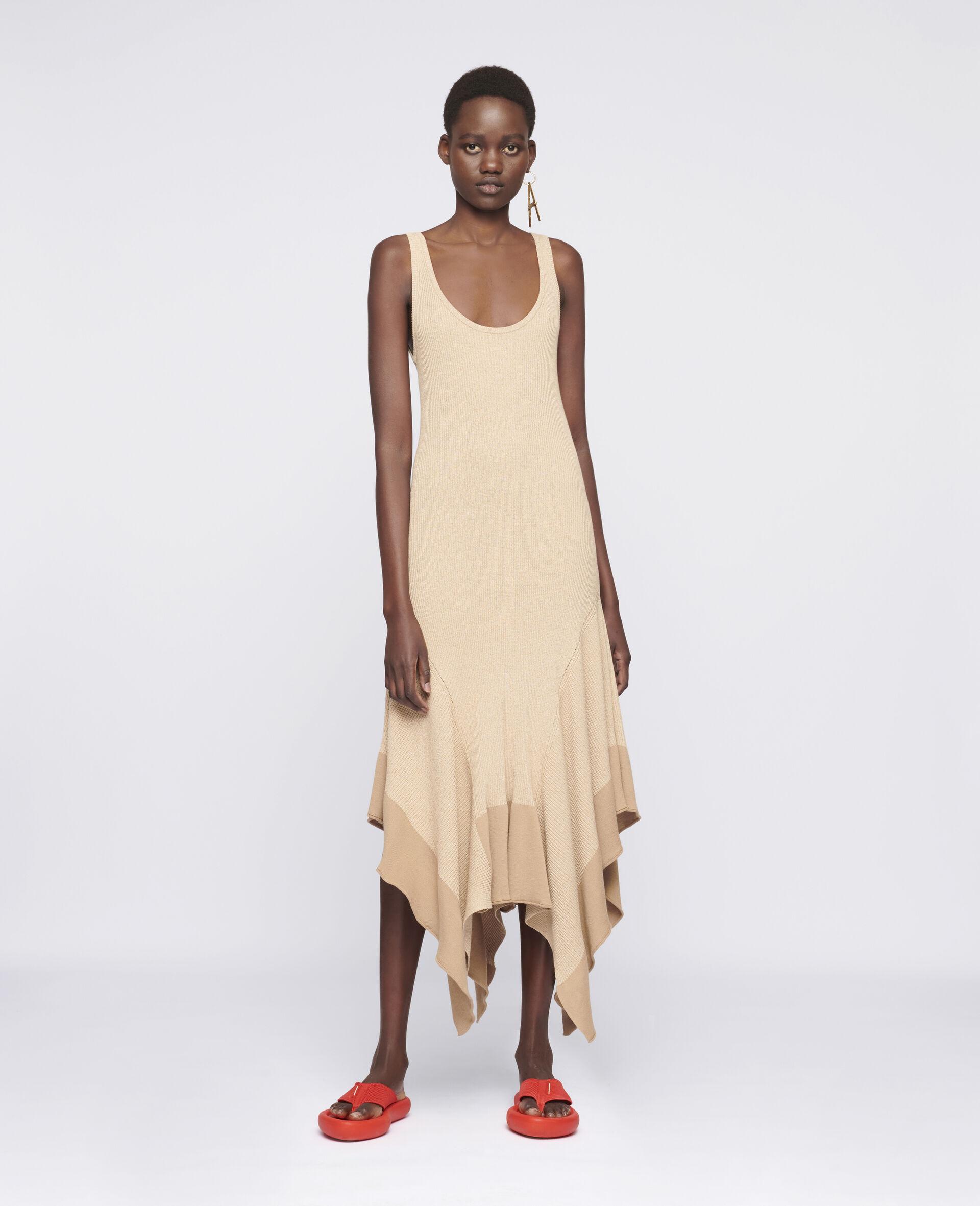 Sleeveless Maxi Dress-Beige-large image number 1