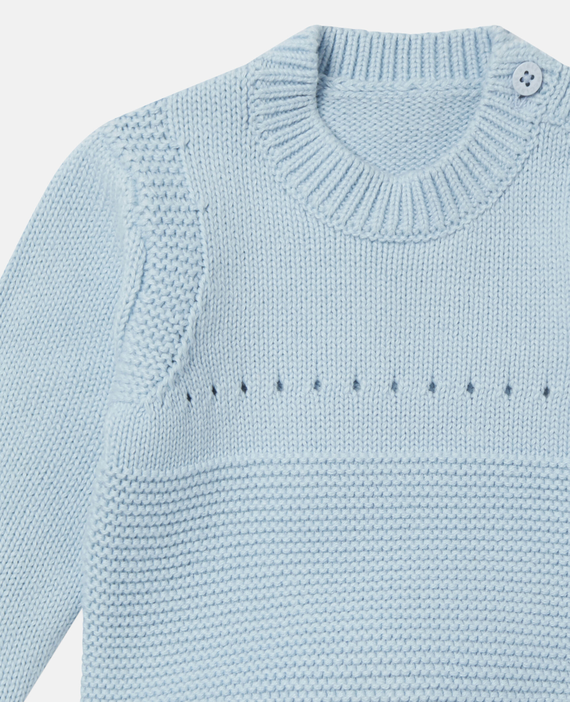 Happy Dog Knit Intarsia Sweater-Blue-large image number 1