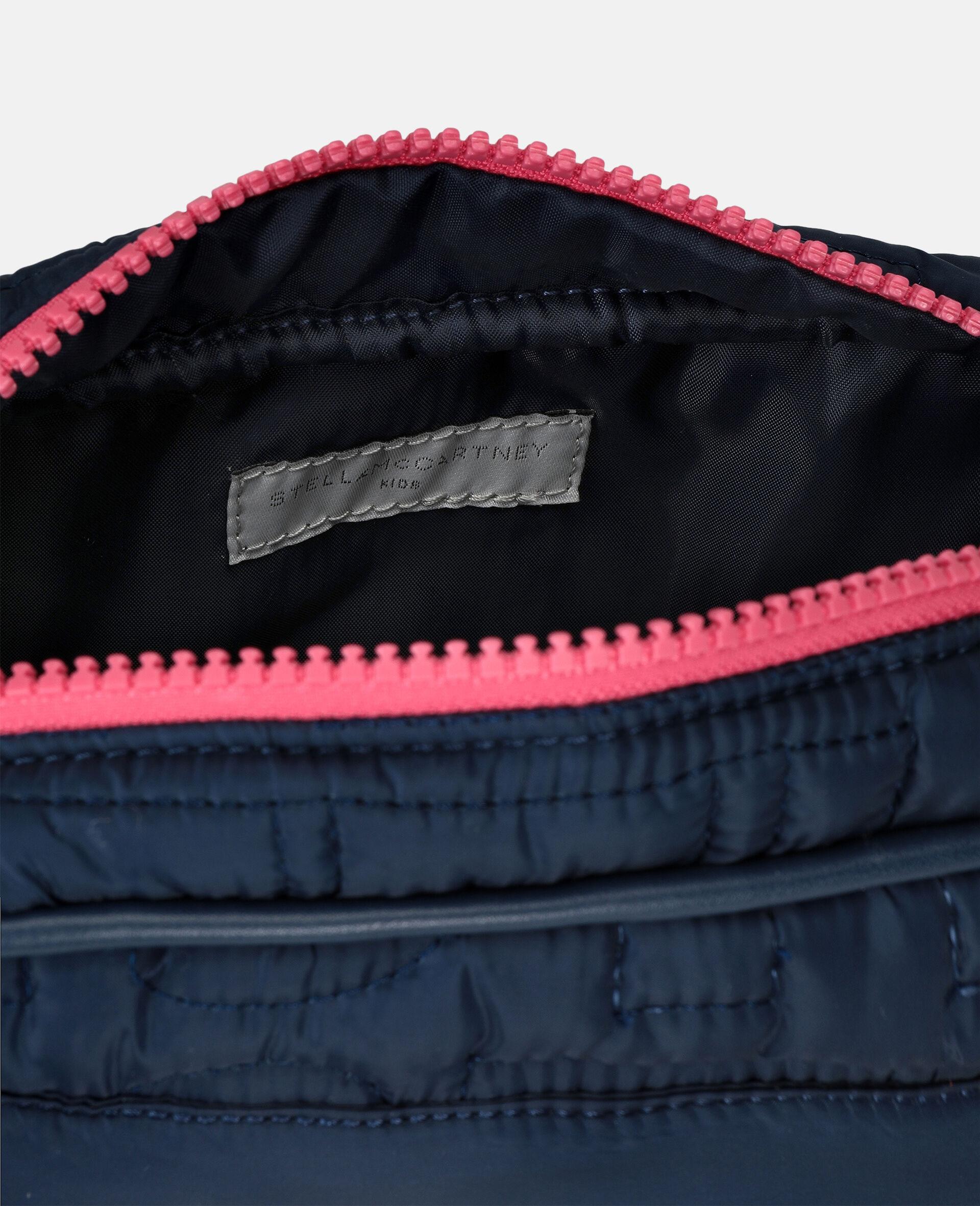 Sac porté épaule matelassé avec logo -Bleu-large image number 2