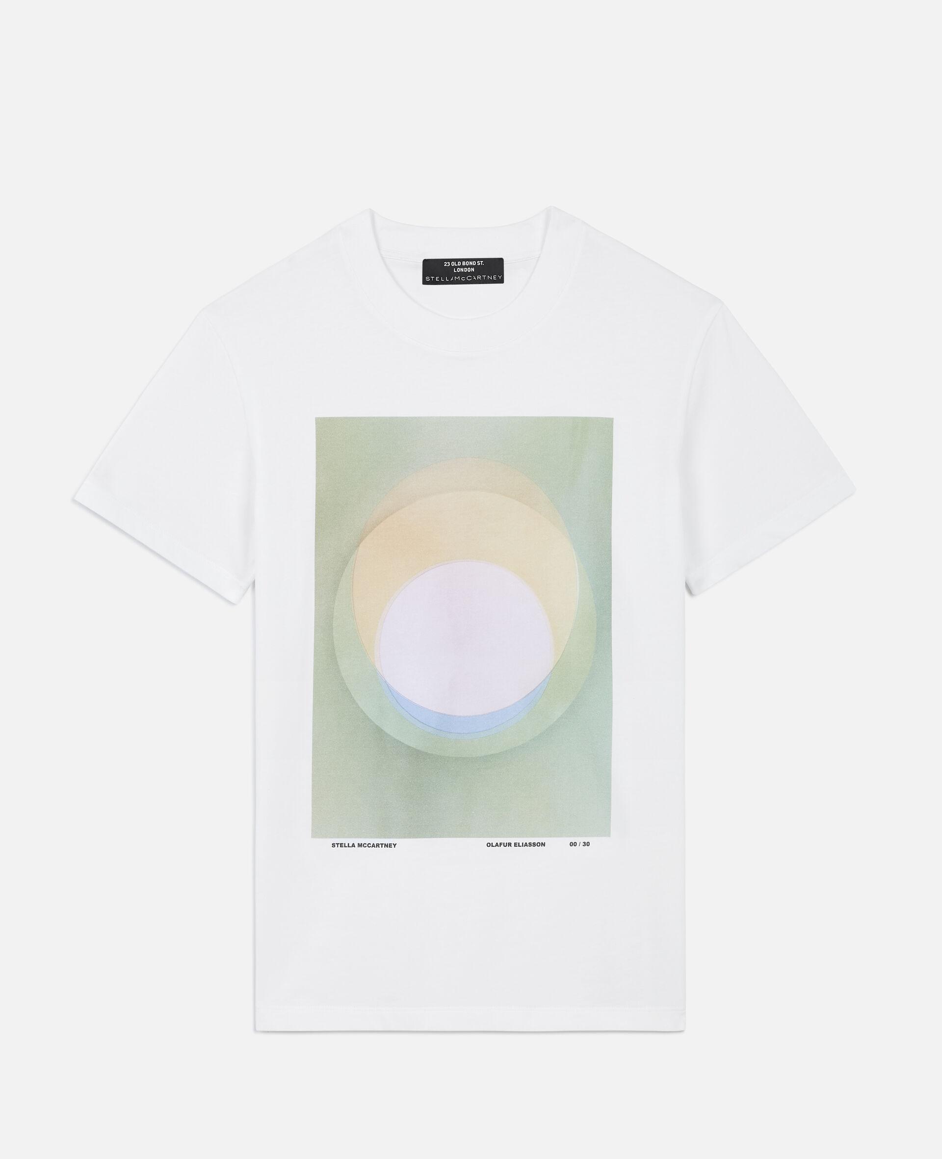 "T-Shirt ""O"" di Olafur Eliasson-Bianco-large image number 0"