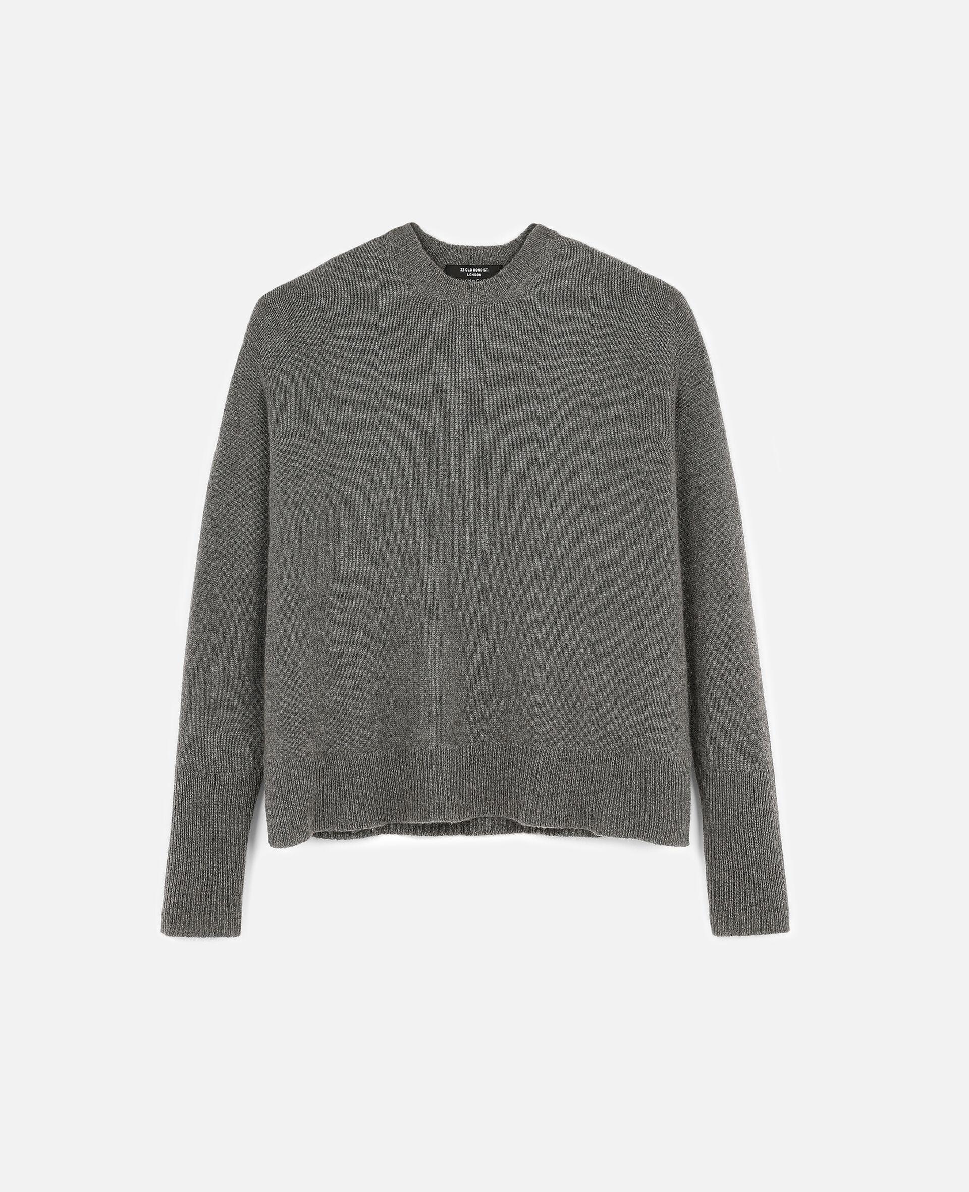 再生羊绒套衫-灰色-large image number 0