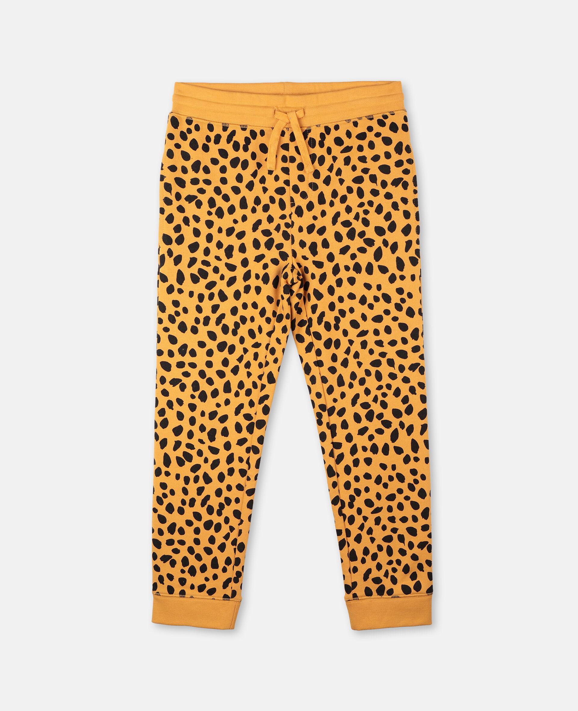 Cheetah Dots Cotton Sweatpants  -Multicoloured-large image number 0