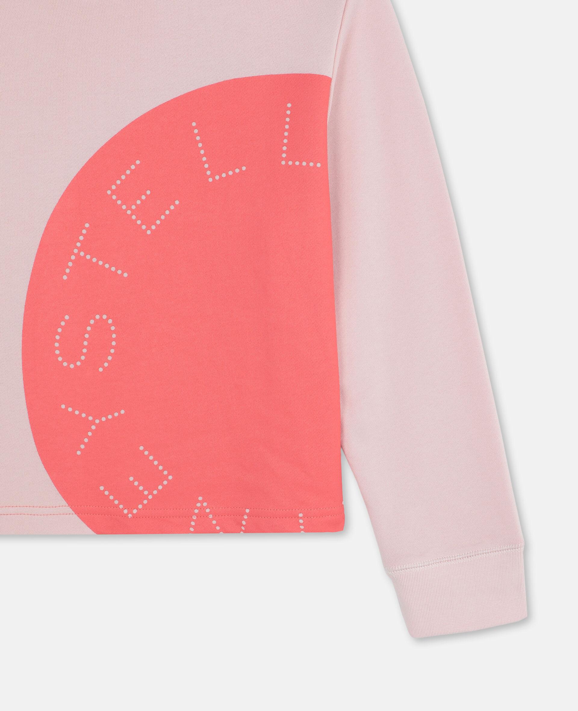 Sportliches Baumwollfleece-Sweatshirt mit Logo-Rose-large image number 1