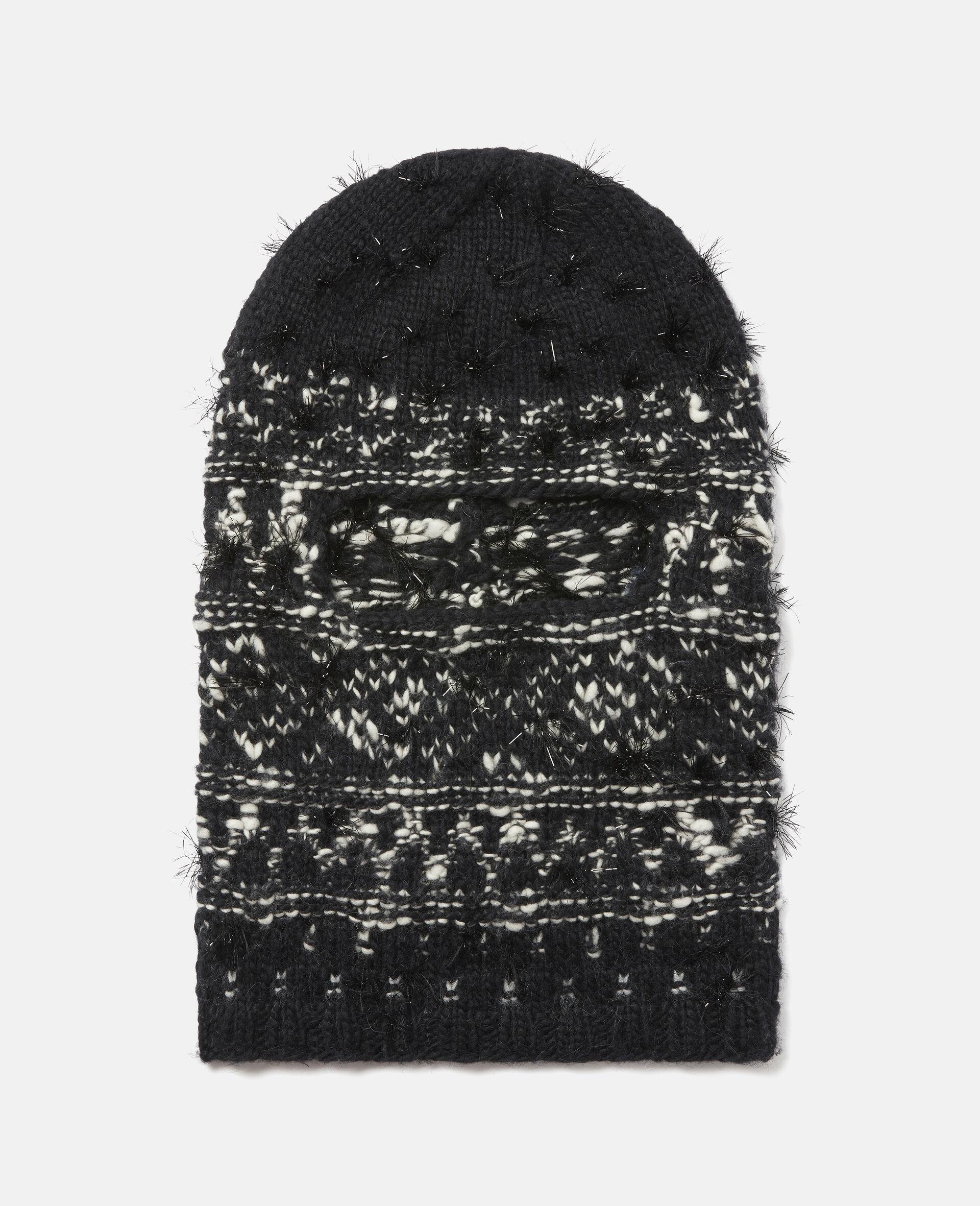 Knit Unisex Balaclava -Black-large image number 0