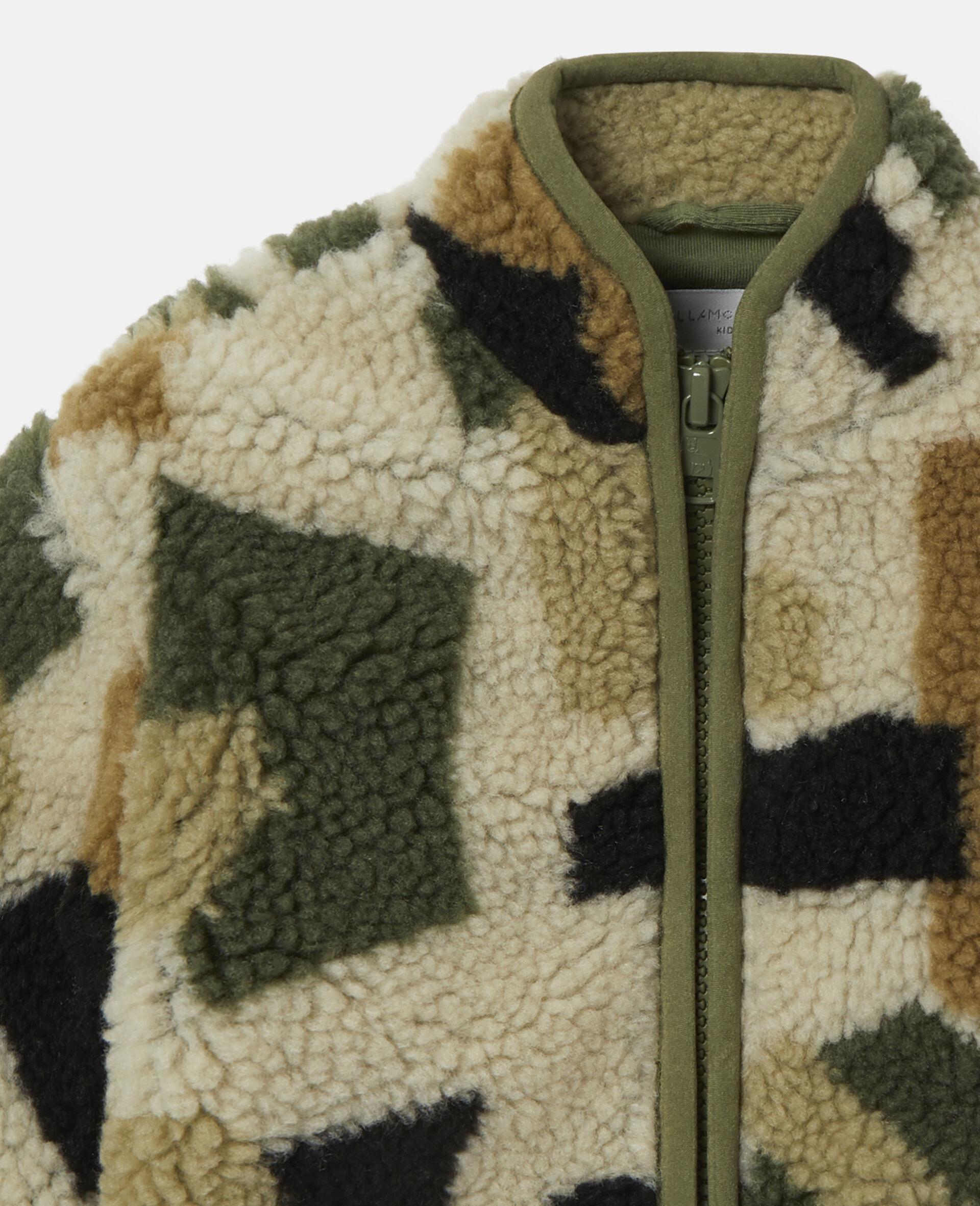 Military Camouflage Teddy Jacket-Multicolour-large image number 1