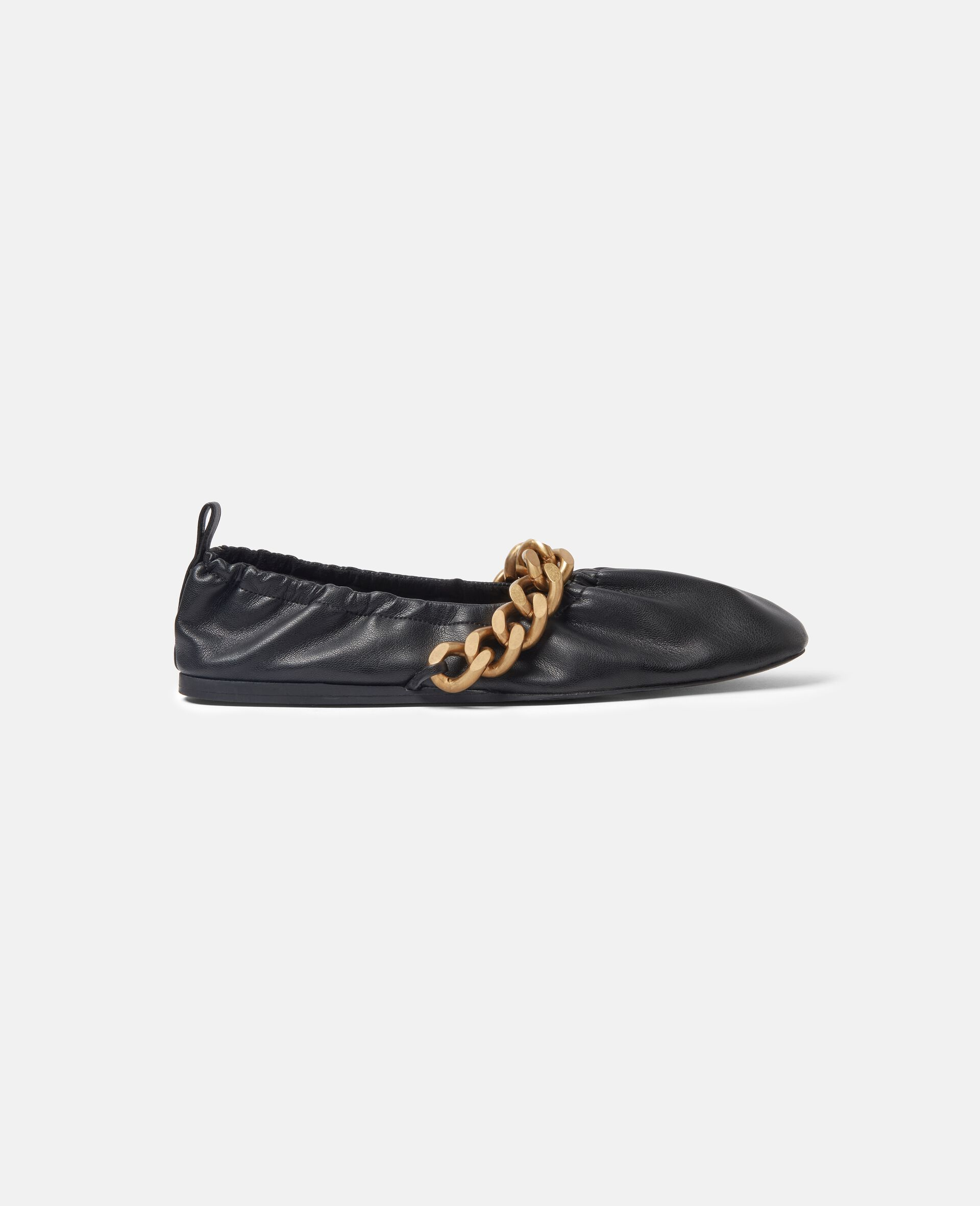 Falabella Chunky Chain Ballet Flats-Black-large image number 0