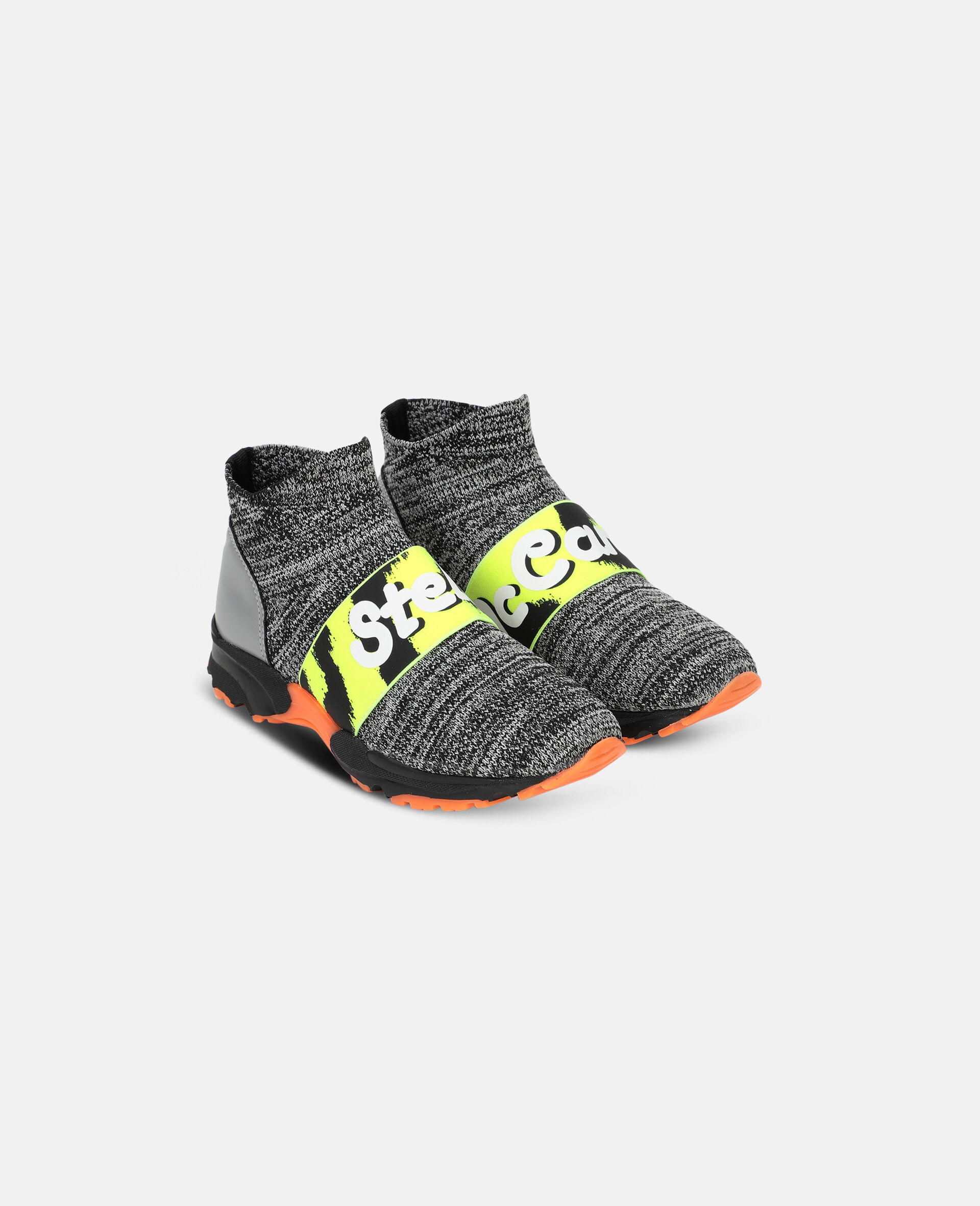 Logo Tape Sport Trainers -Grey-large image number 3