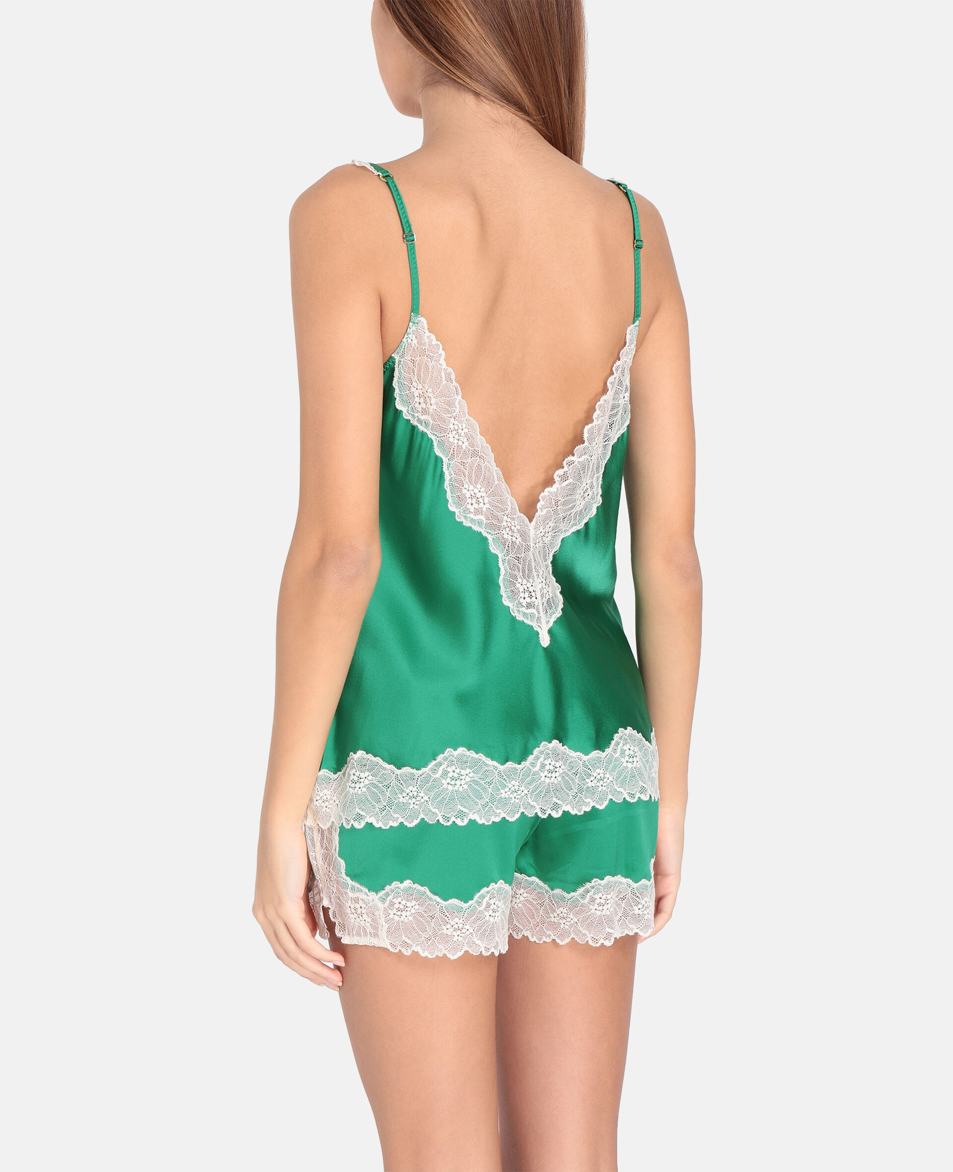 Kitty Catching Camisole-Green-large image number 2