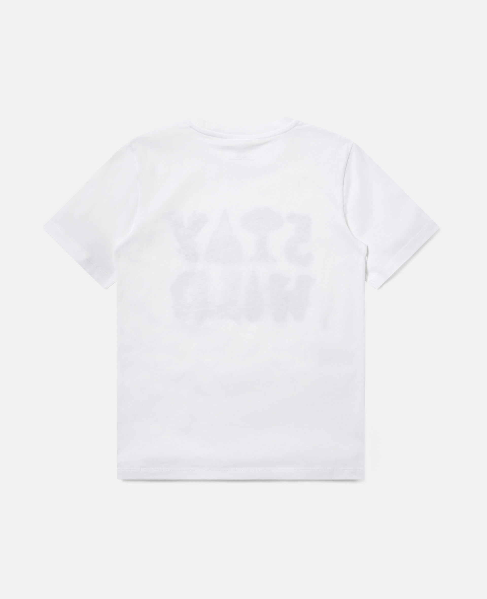 "Baumwoll-T-Shirt mit ""Stay Wild""-Print-Weiß-large image number 3"